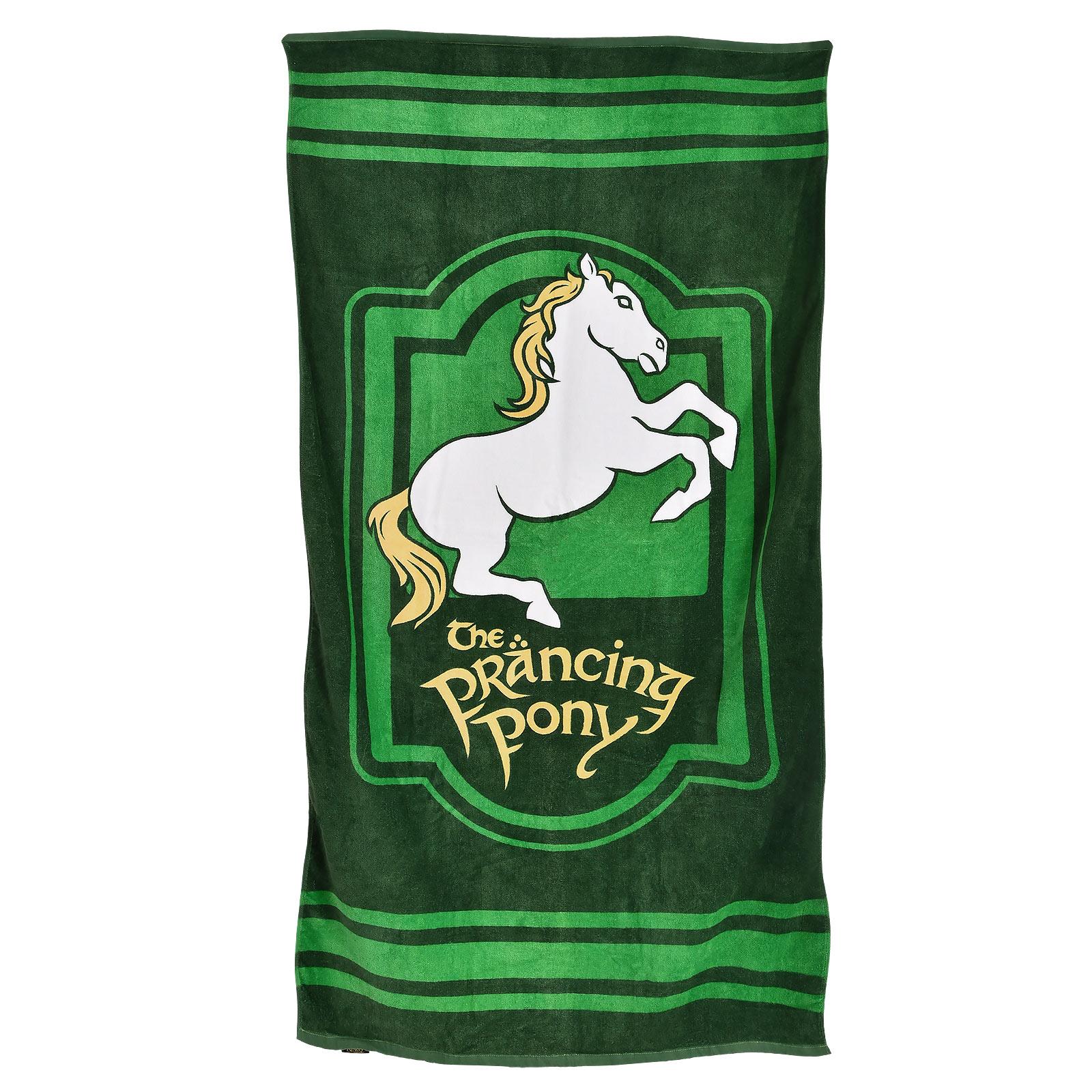 Herr der Ringe - Zum Tänzelnden Pony Strandtuch
