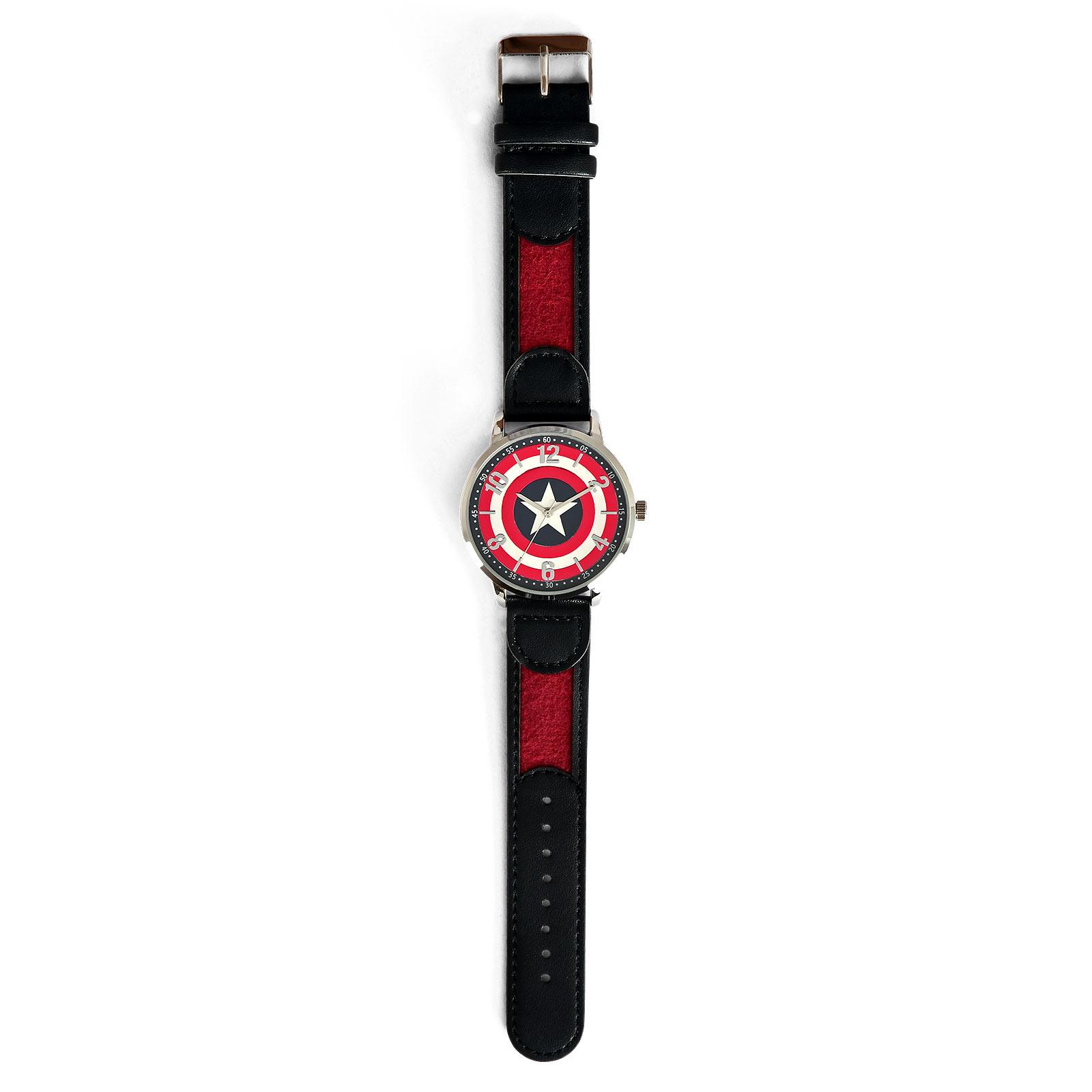 Captain America - Shield Logo Armbanduhr