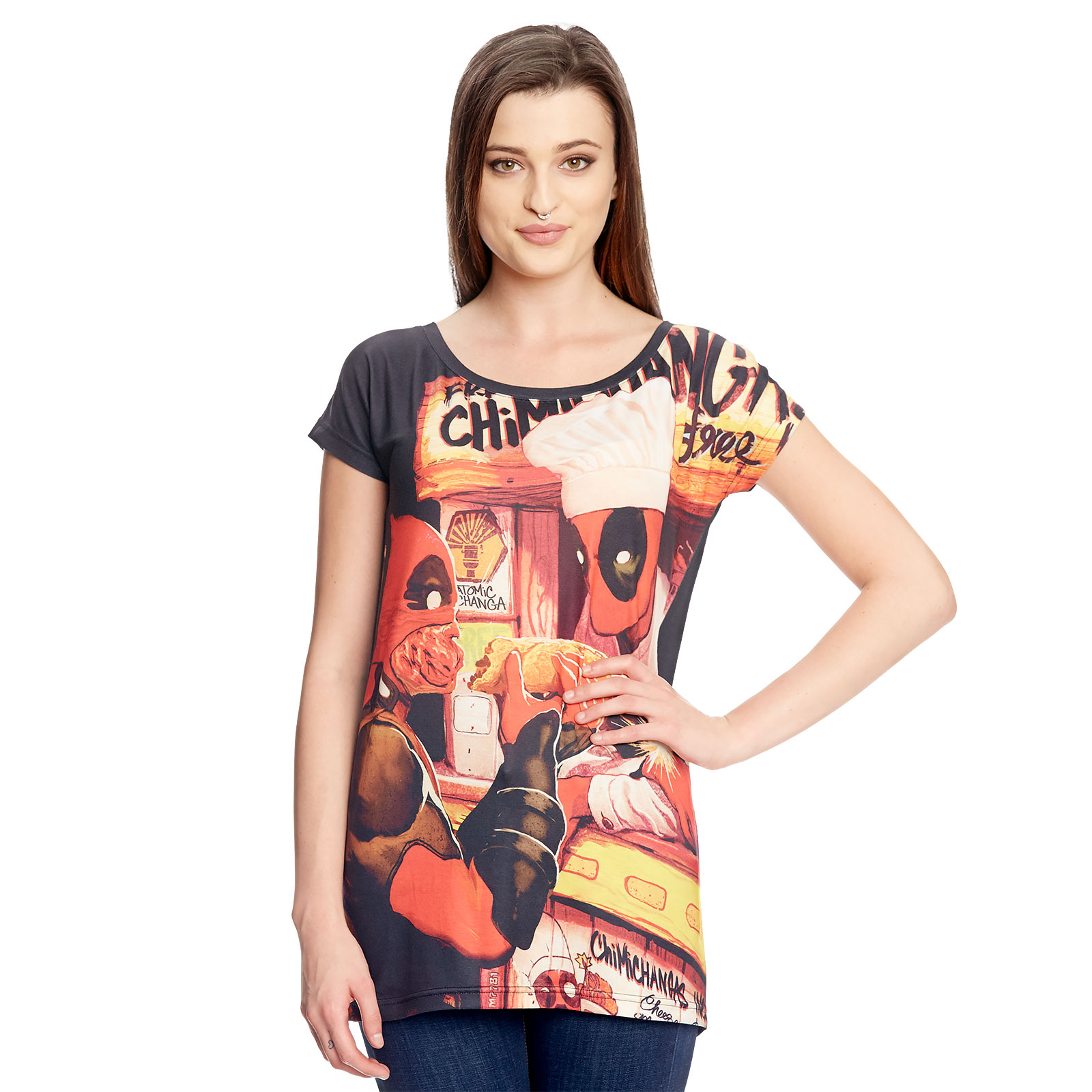 Deadpool - Chimichanga Girlie Shirt Loose Fit schwarz