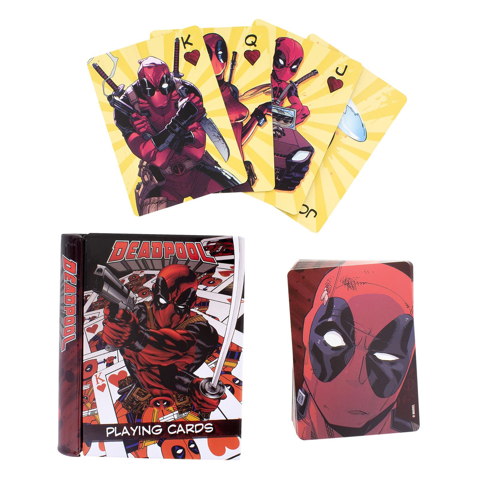 Deadpool Spielkarten in Metallbox