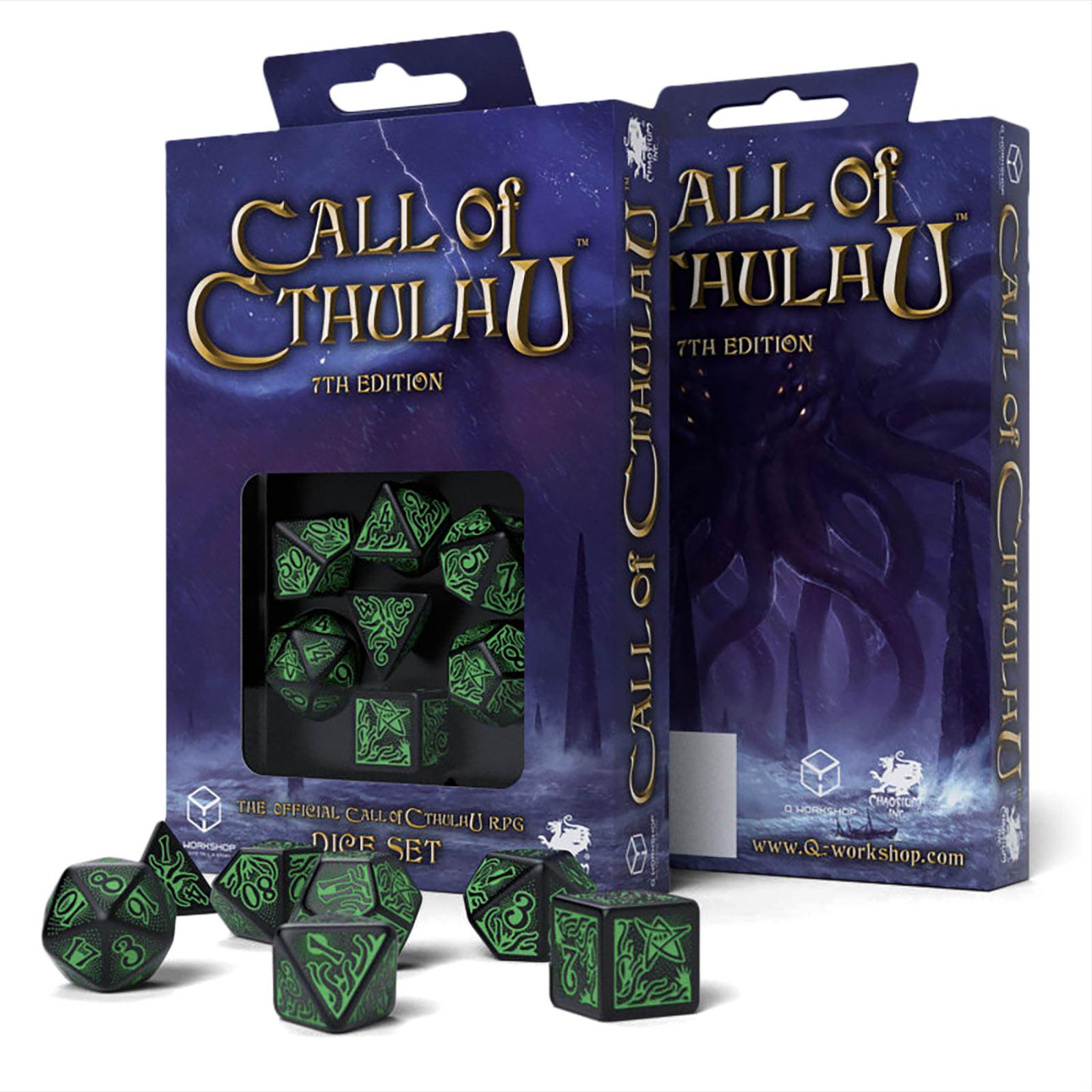 Call of Cthulhu RPG Würfel Set 7th Edition 7tlg schwarz