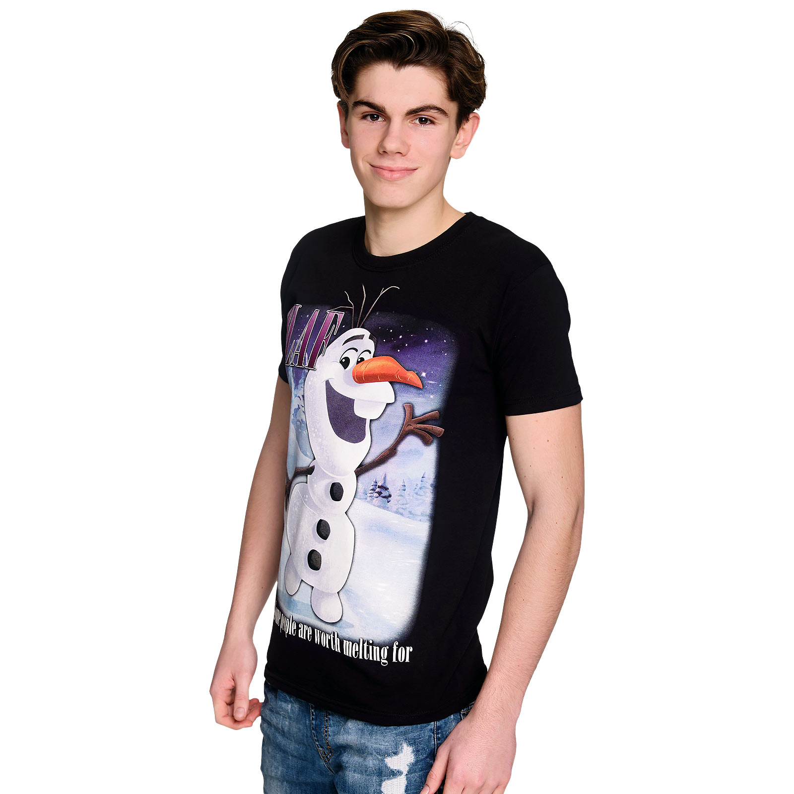 Frozen - Olaf Worth Melting For T-Shirt schwarz