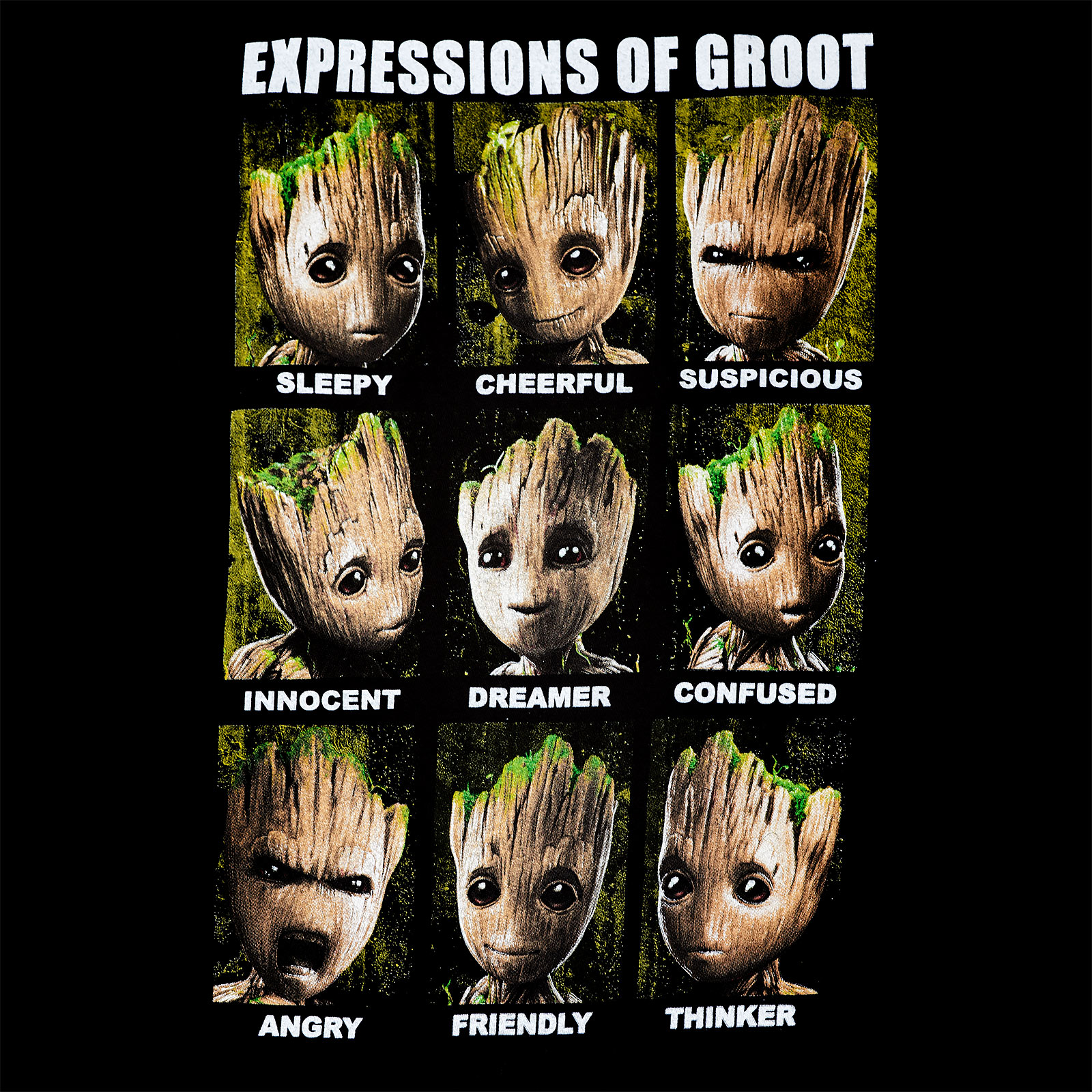 Guardians of the Galaxy - Groot Expressions Tank Top schwarz