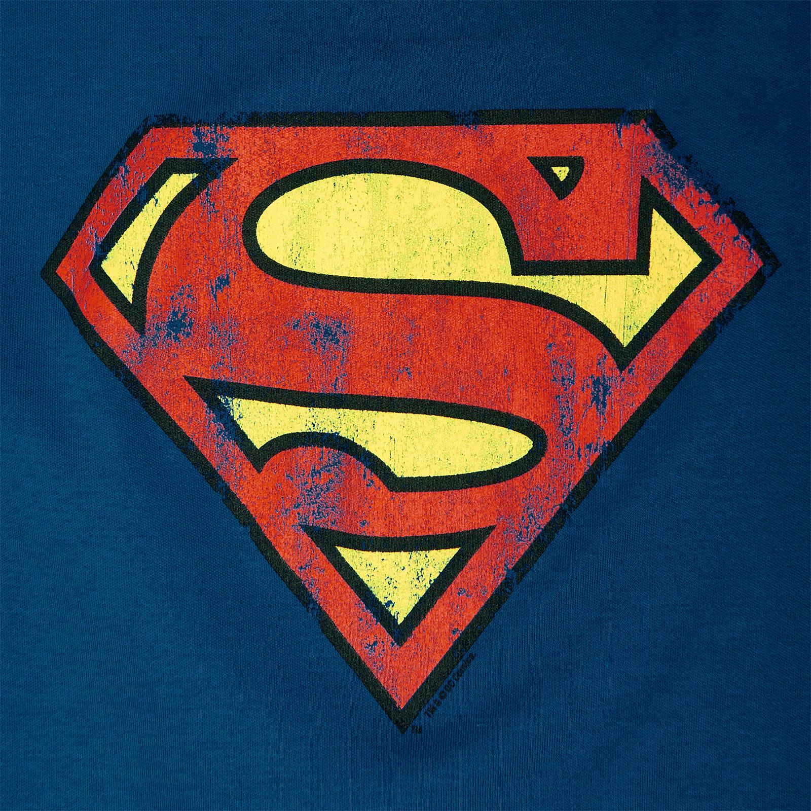 Superman Logo Kinder T-Shirt