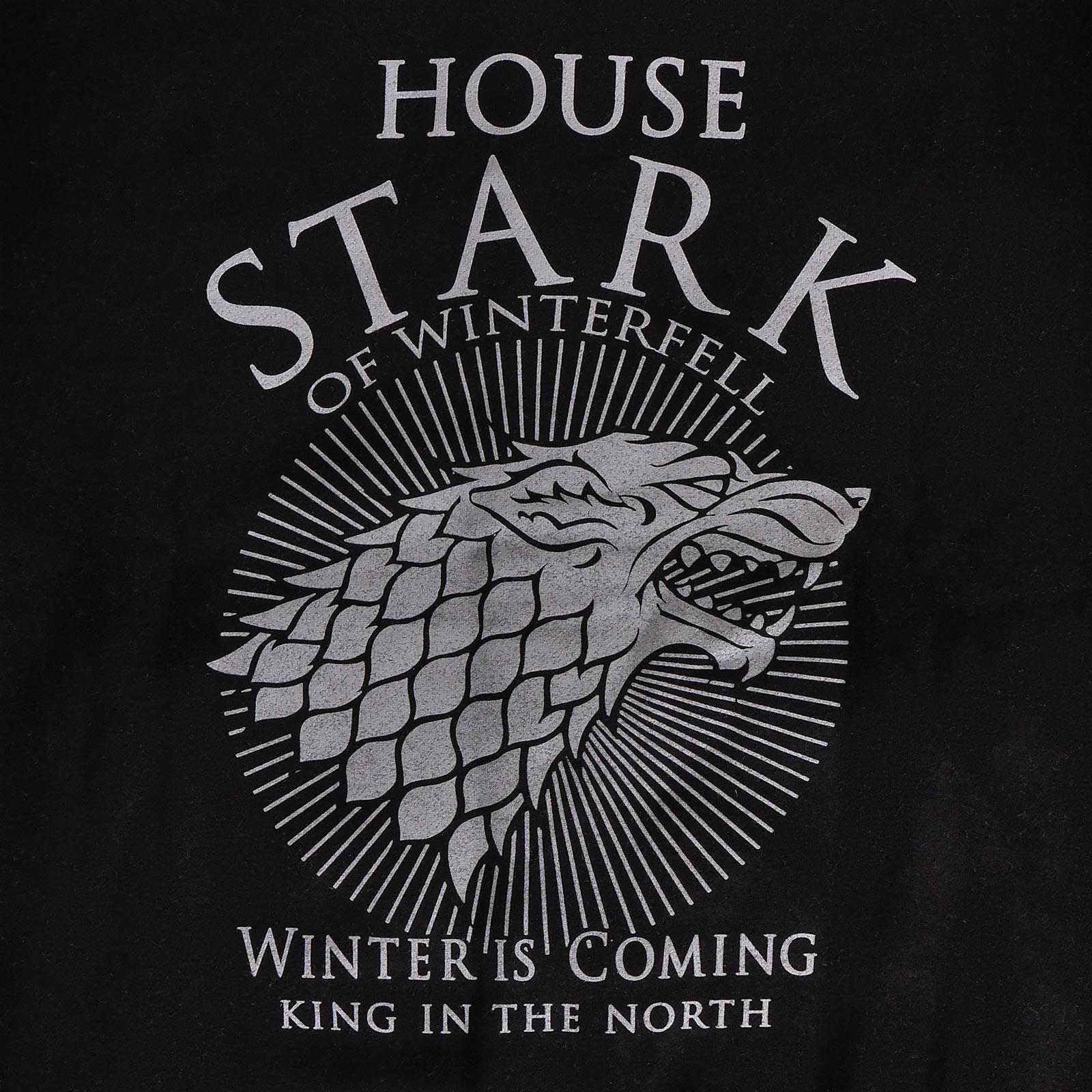 Game of Thrones - House Stark College Jacke schwarz-grau