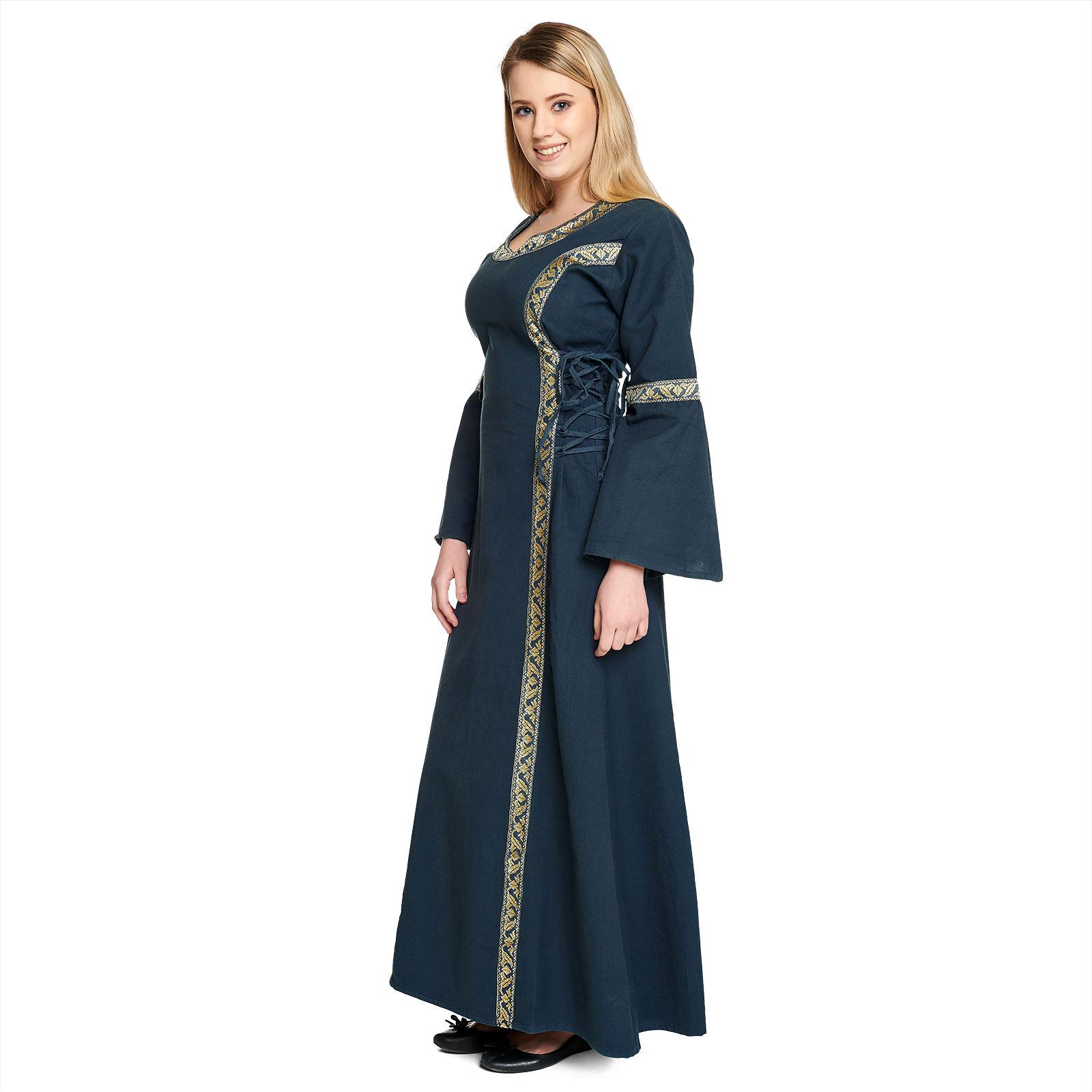 Mittelalter Kleid Reinhild blau