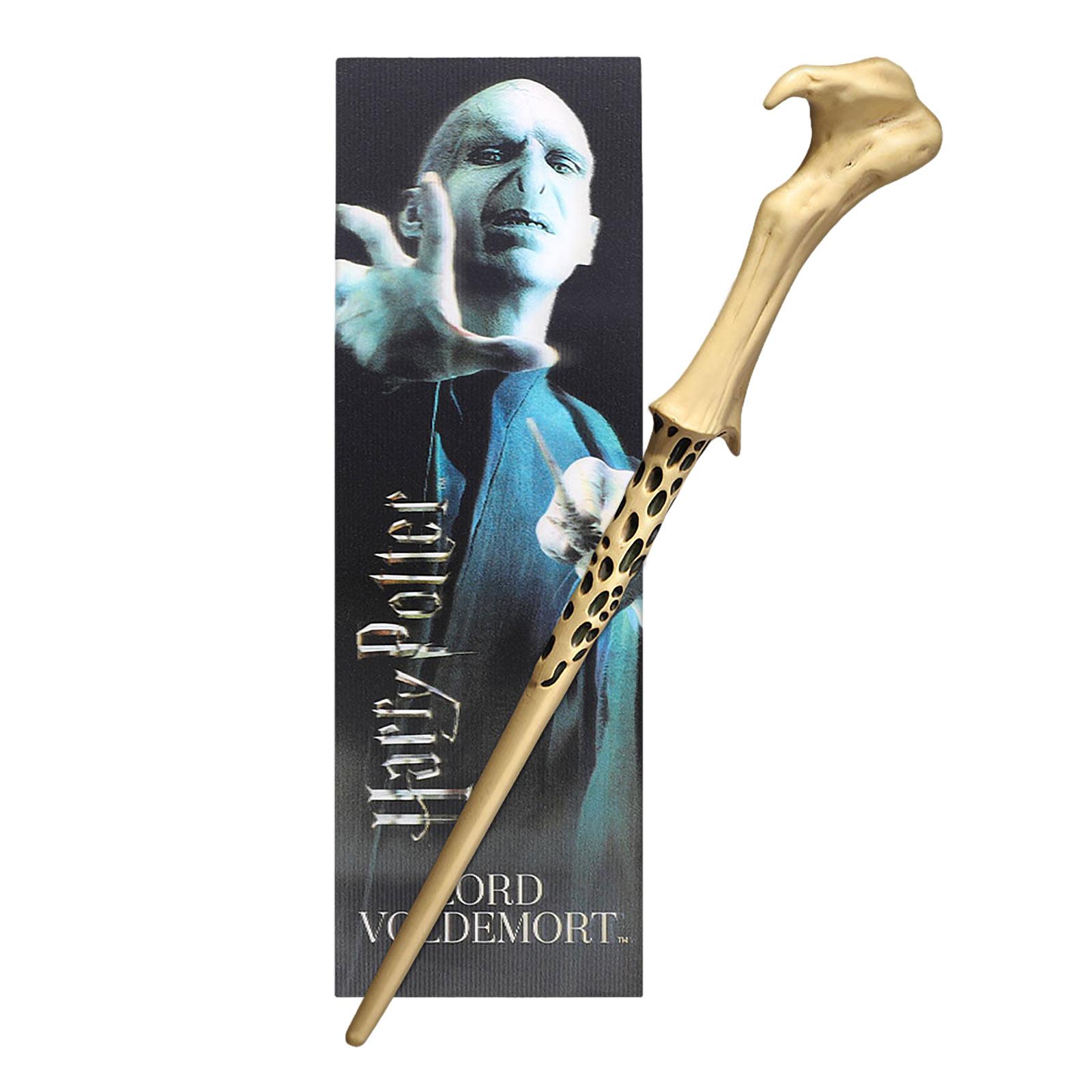 Voldemort Zauberstab für Jungzauberer mit Lesezeichen - Harry Potter