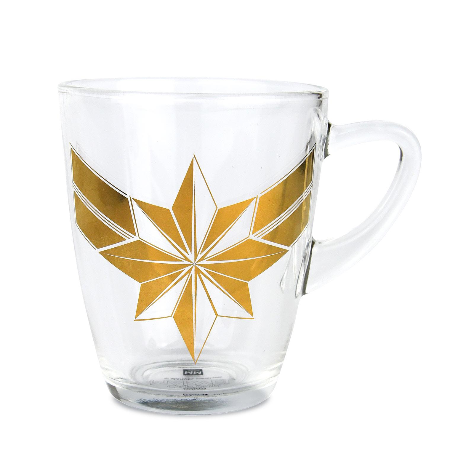 Captain Marvel - Logo Glastasse