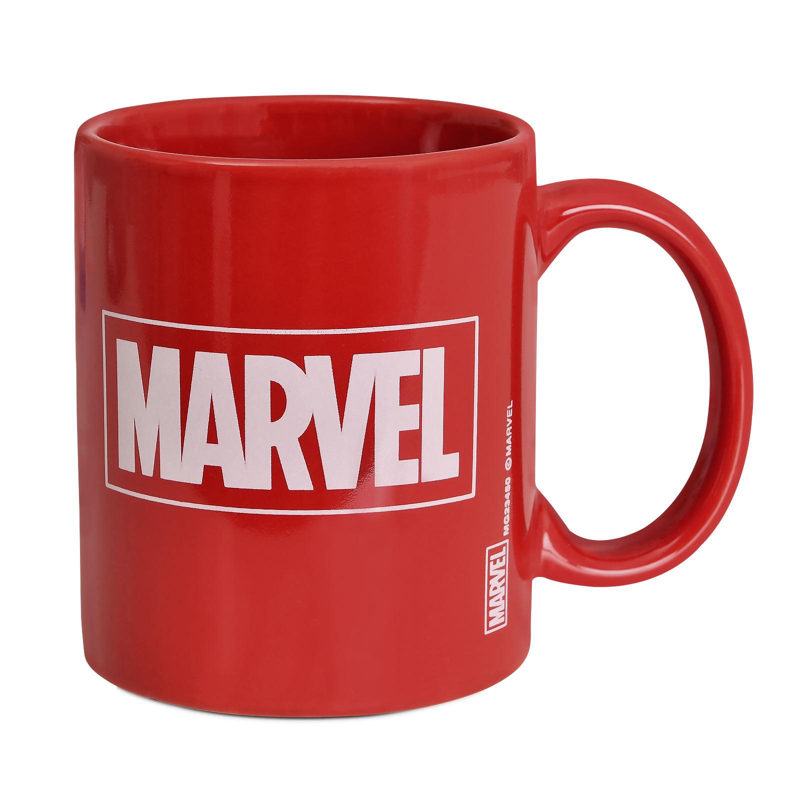 Marvel - Logo Tasse rot