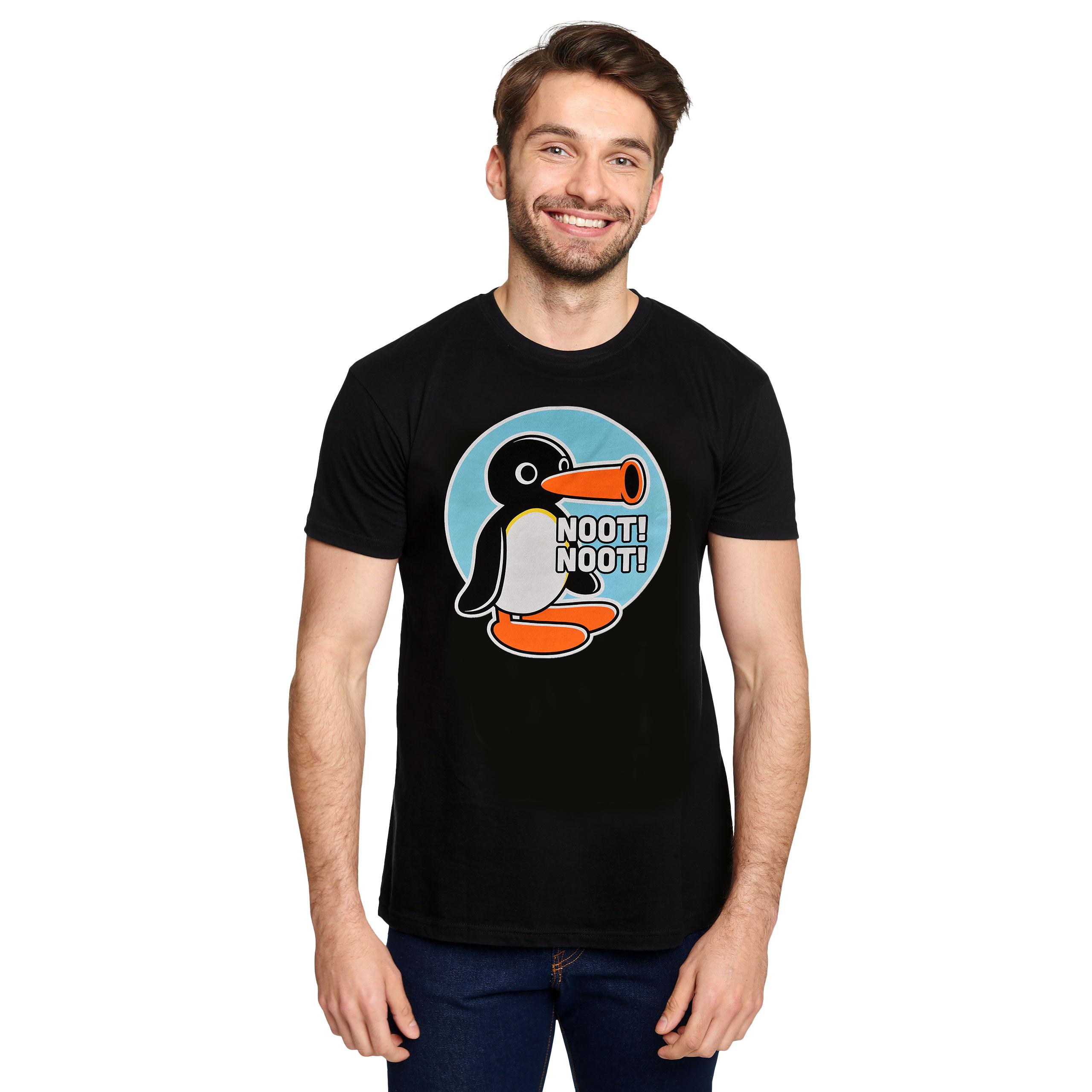 Noot Noot T-Shirt für Pingu Fans schwarz