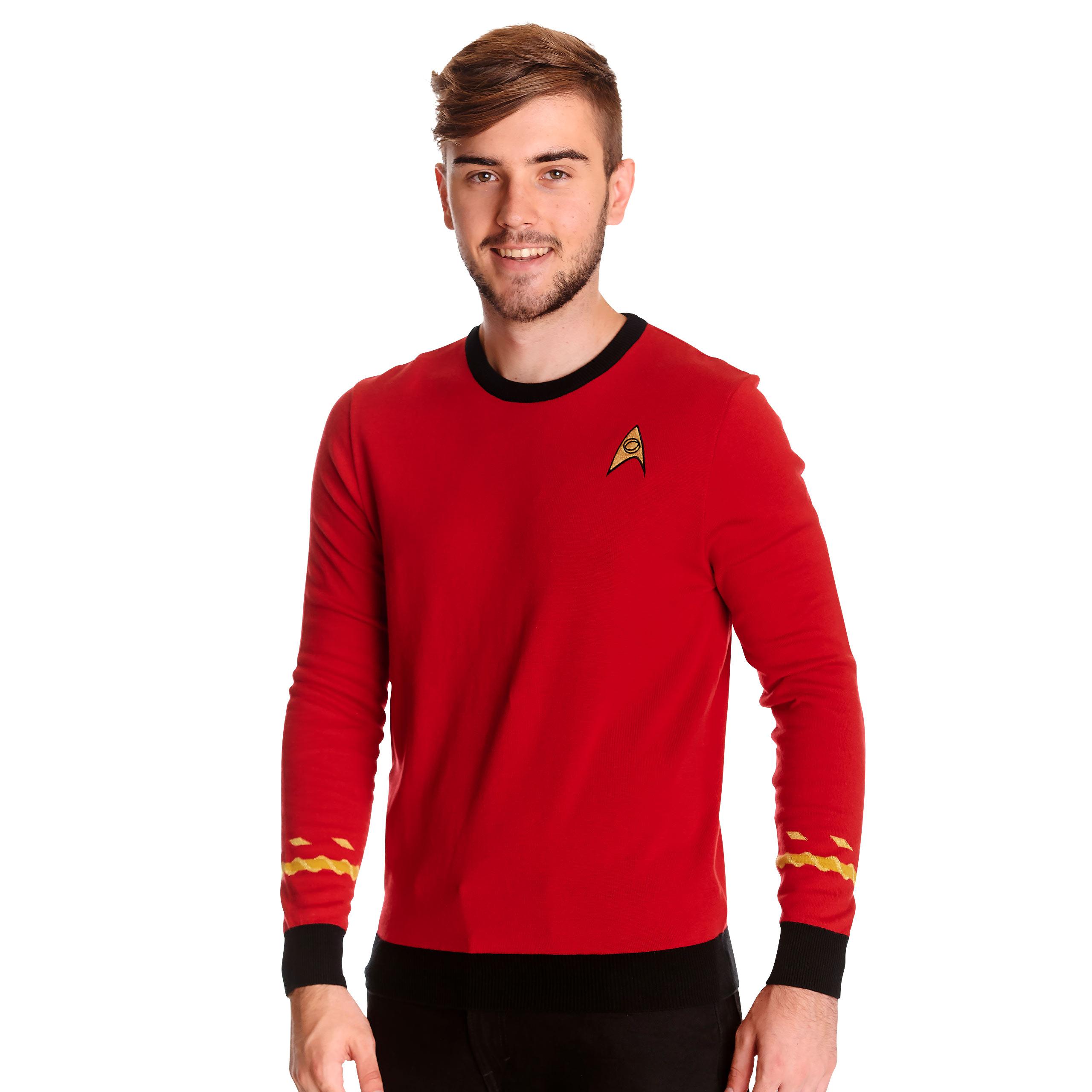 Star Trek - Scotty Uniform Strickpullover rot