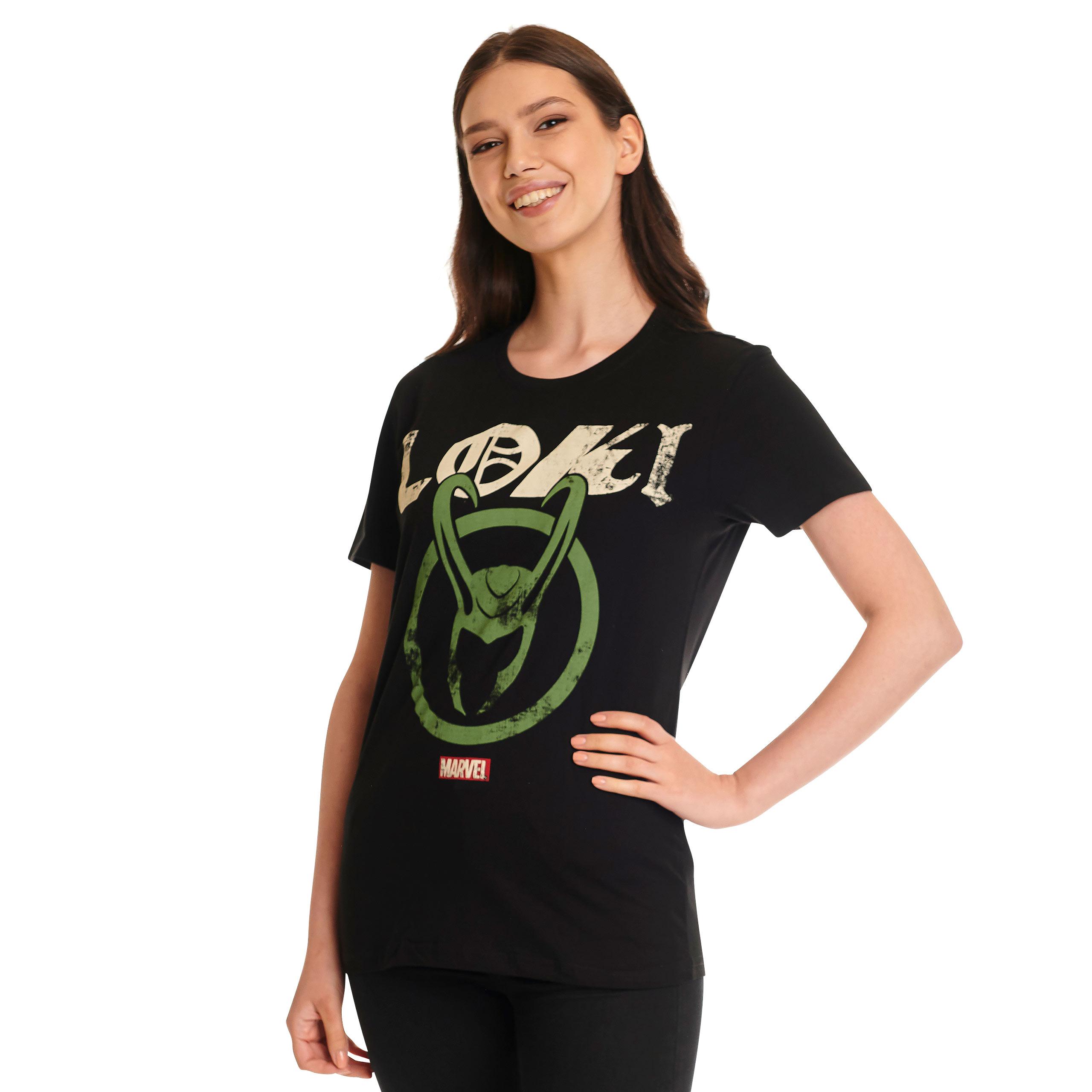 Loki - Logo Badge T-Shirt schwarz