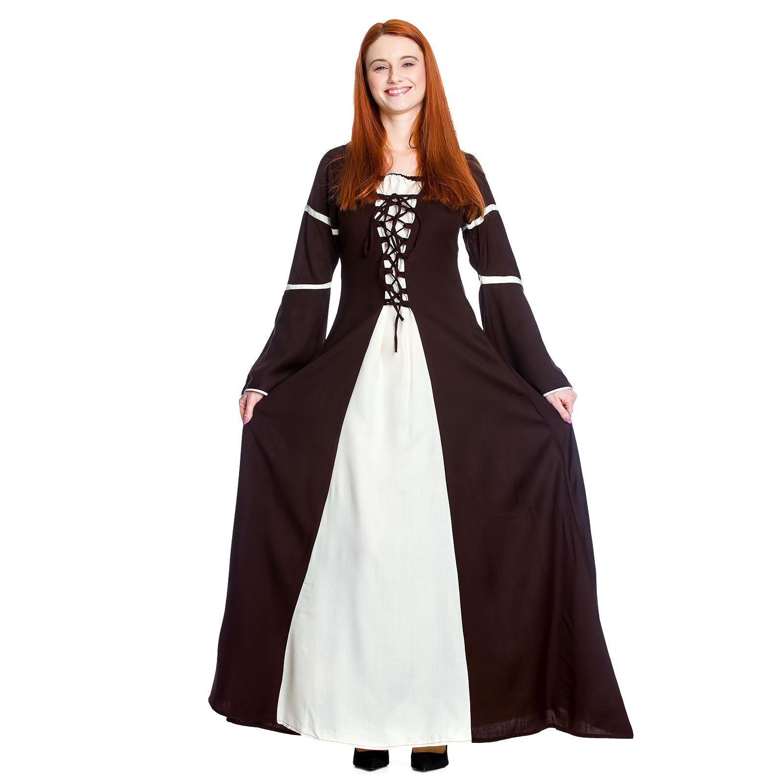 Mittelalter Kleid Katherina braun-natur