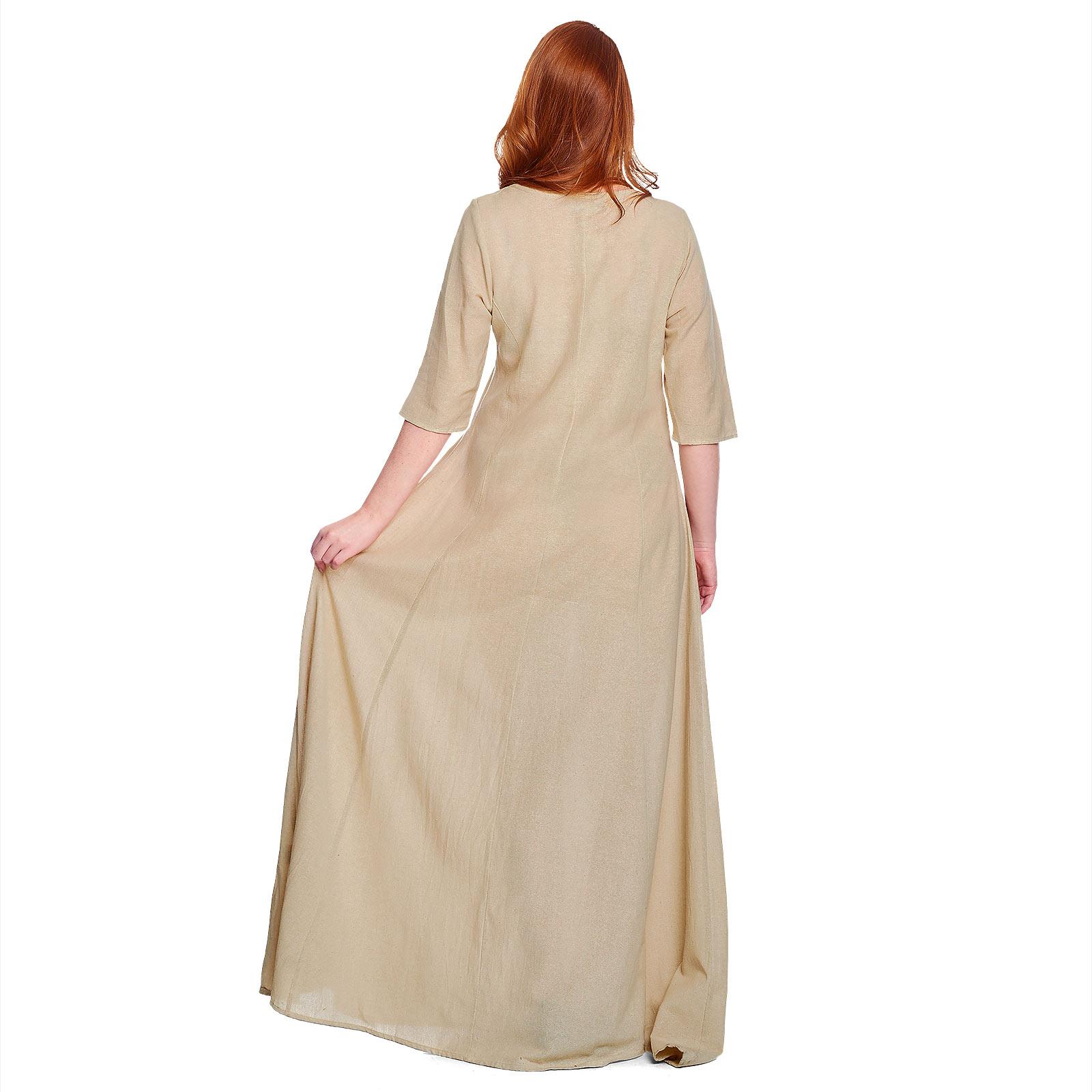 Mittelalter Unterkleid Silja beige