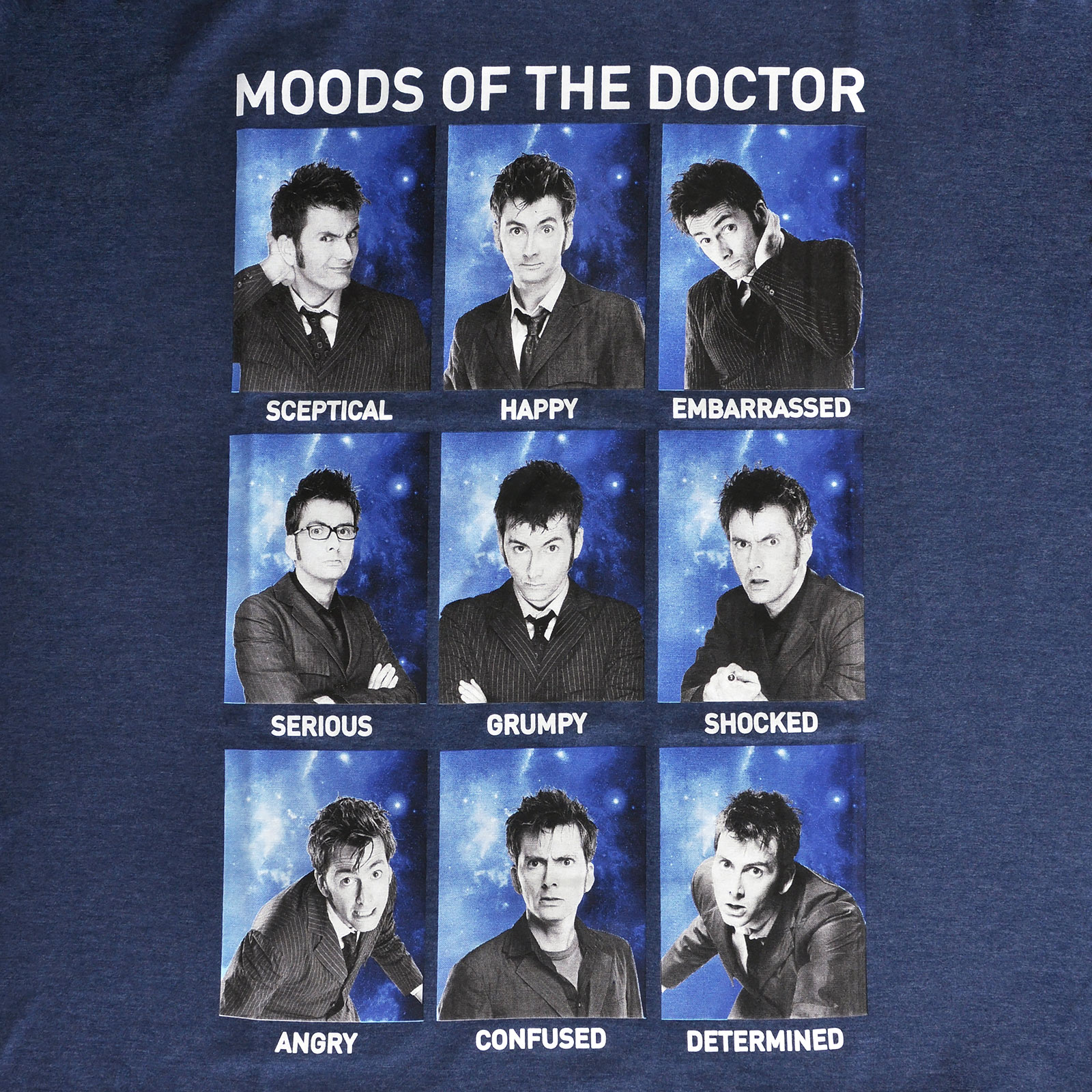 Doctor Who - Moods of the Doctor T-Shirt blau