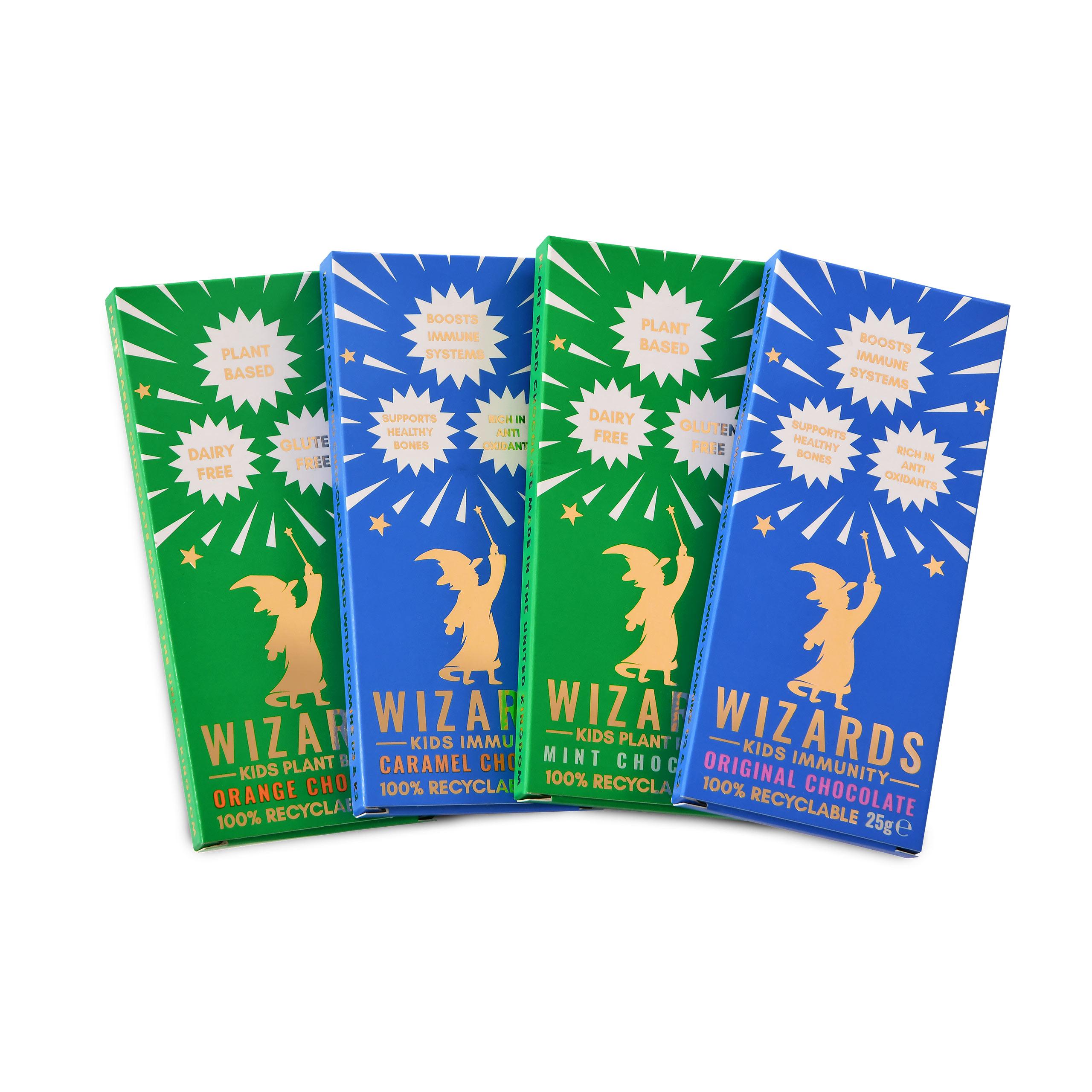 Wizards Magic - Kids Selection Schokolade 4 Tafeln