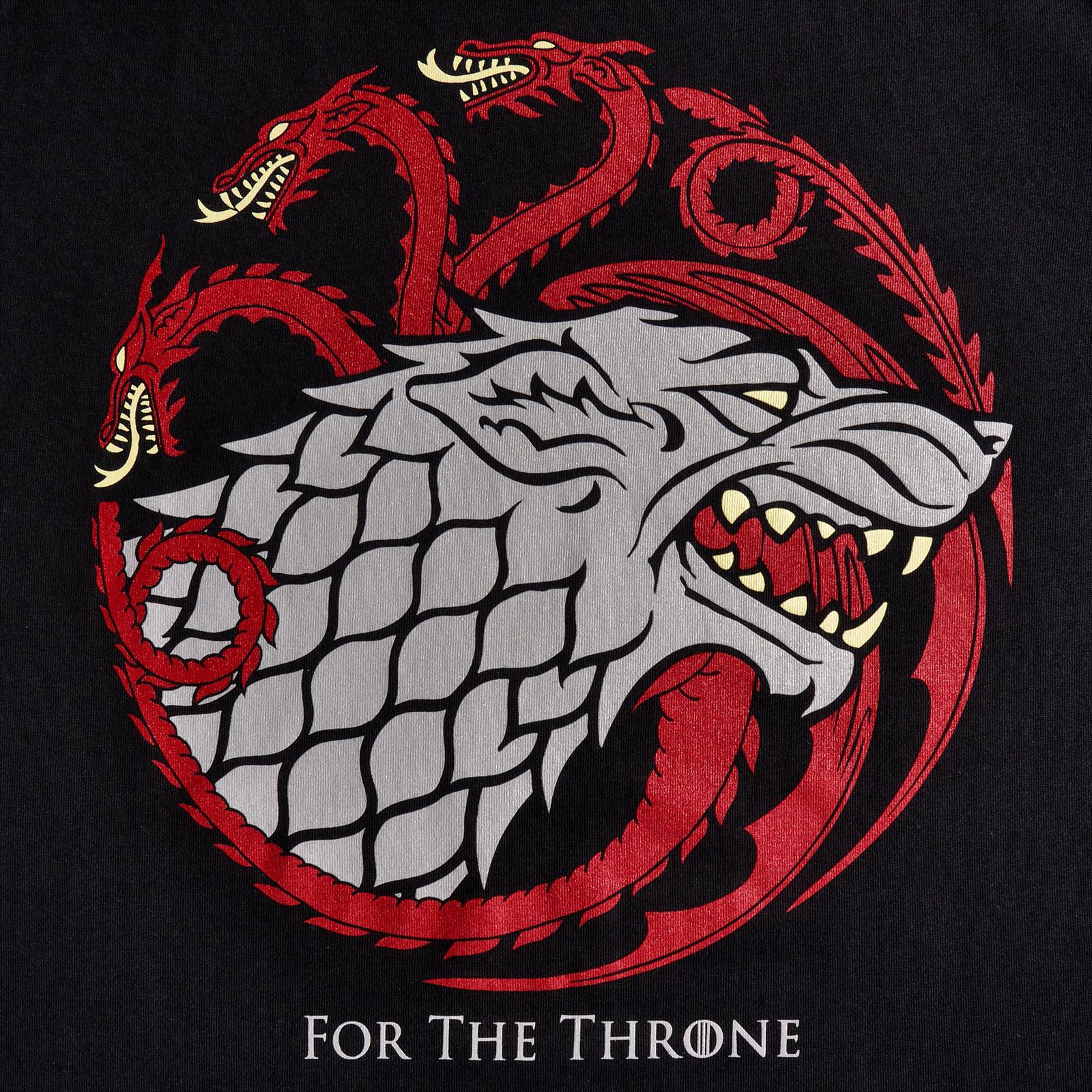 Stark & Targaryen For The Throne T-Shirt - Game of Thrones