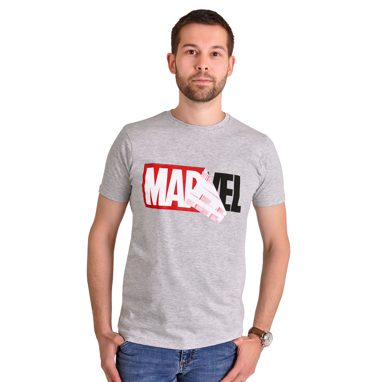 Marvel - Logo Reveal T-Shirt grau