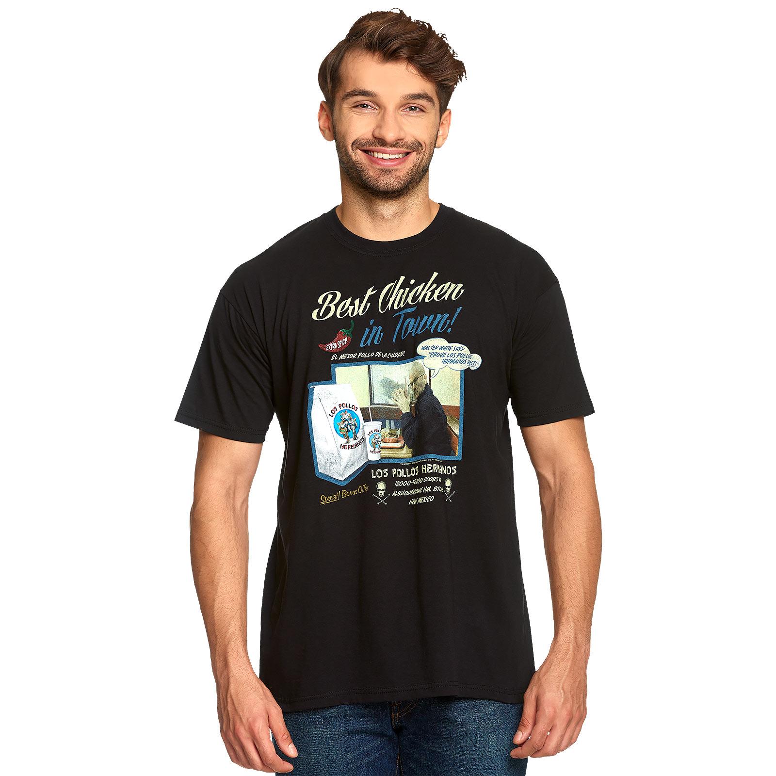 Breaking Bad - Los Pollos Hermanos Best Chicken T-Shirt schwarz