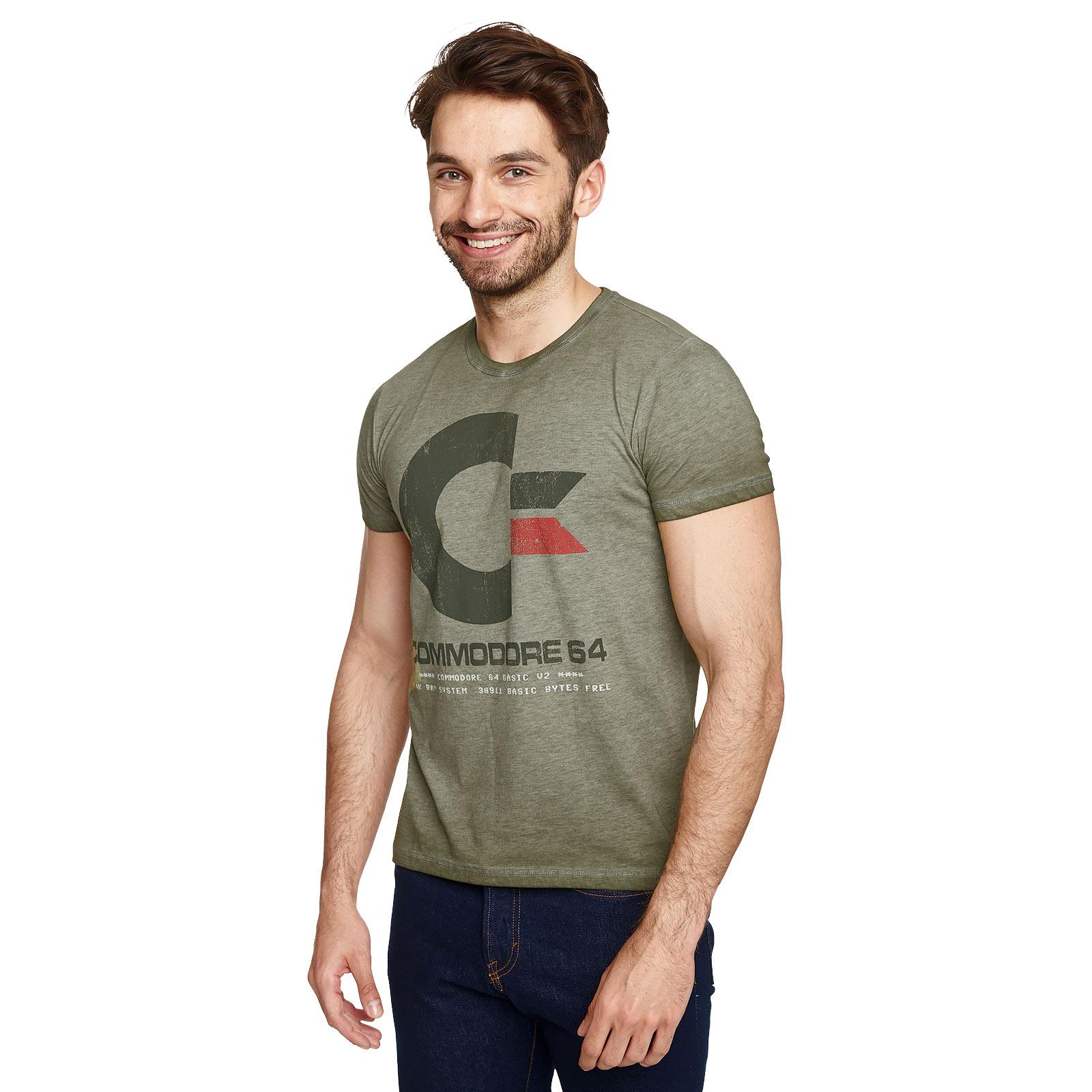 Commodore 64 - Vintage Logo T-Shirt oliv