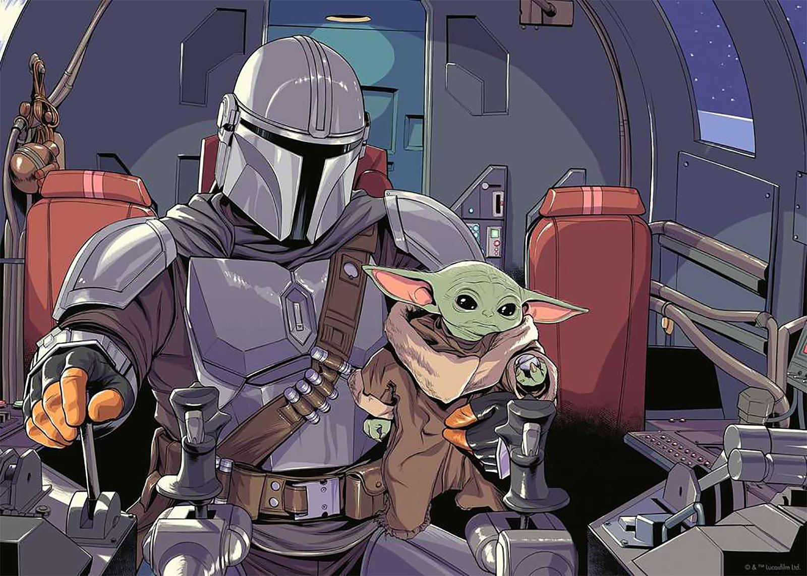 The Mandalorian & Grogu Puzzle - Star Wars