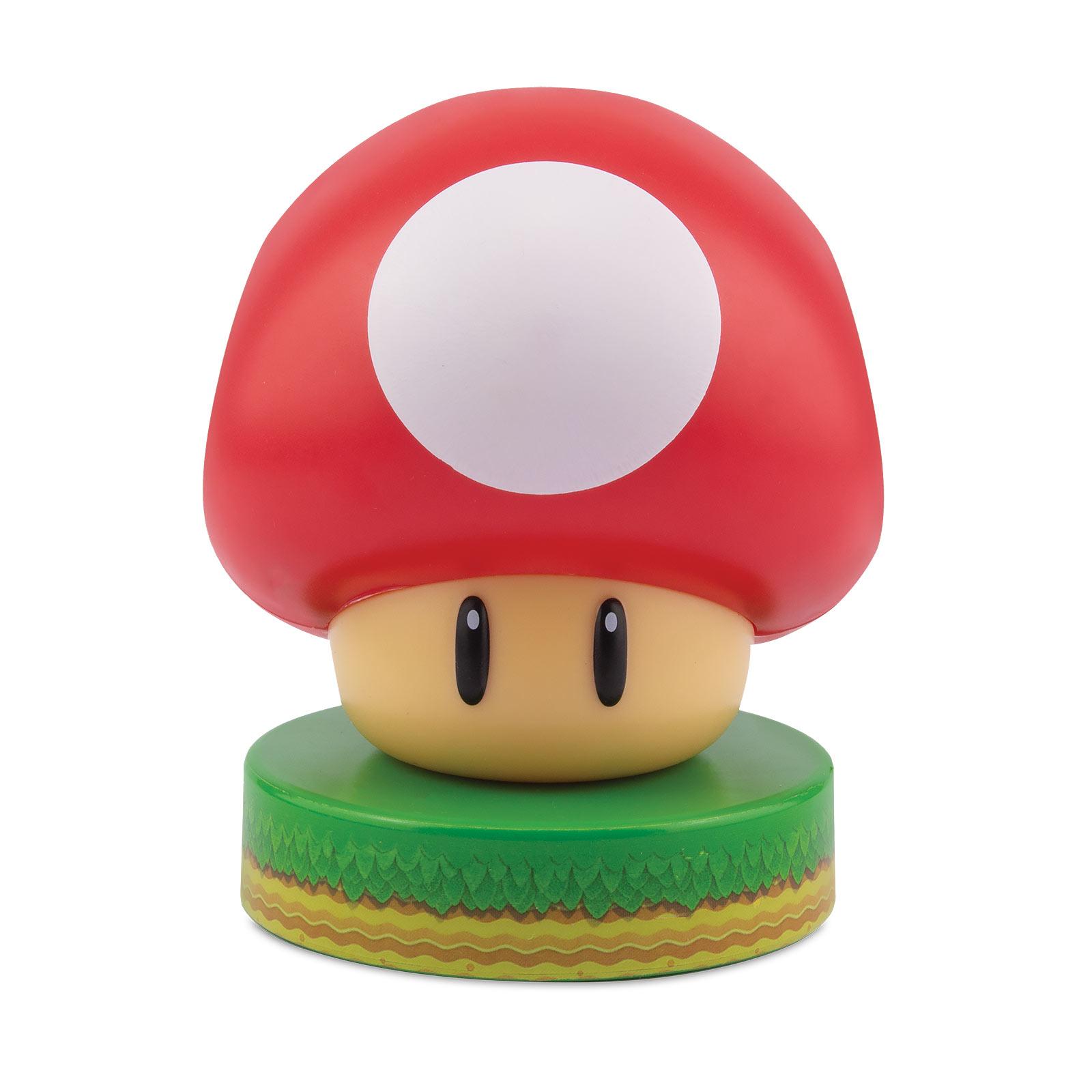 Super Mario - Super-Pilz 3D Tischlampe
