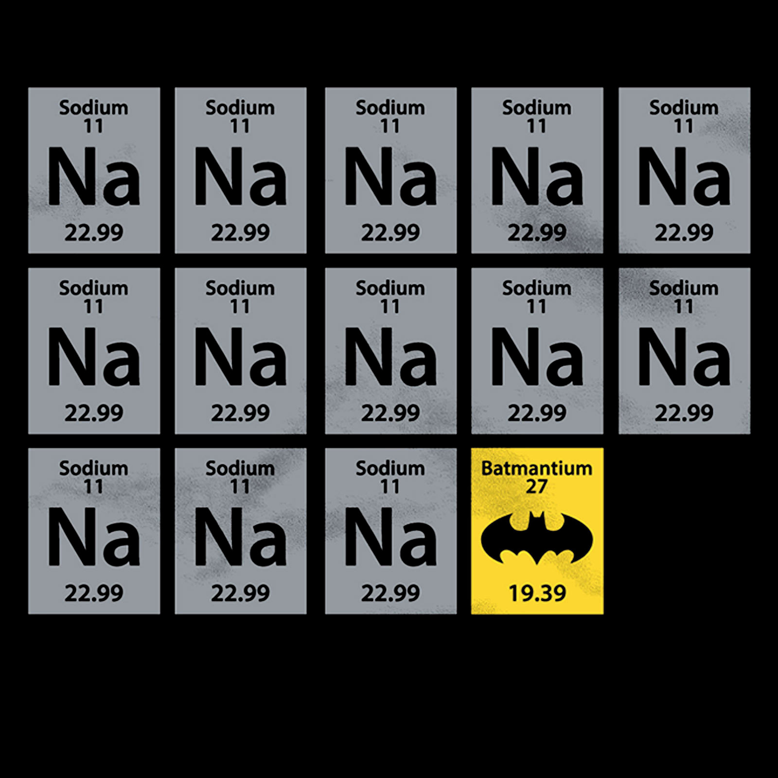 Batman - Chemistry T-Shirt schwarz