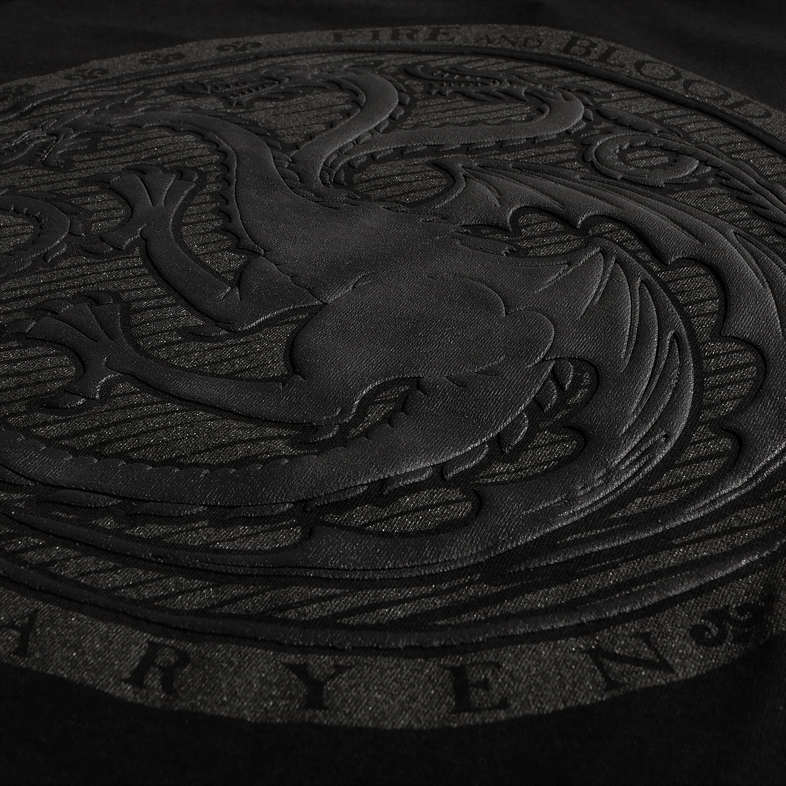 Game of Thrones - Dark Targaryen 3D Logo T-Shirt schwarz