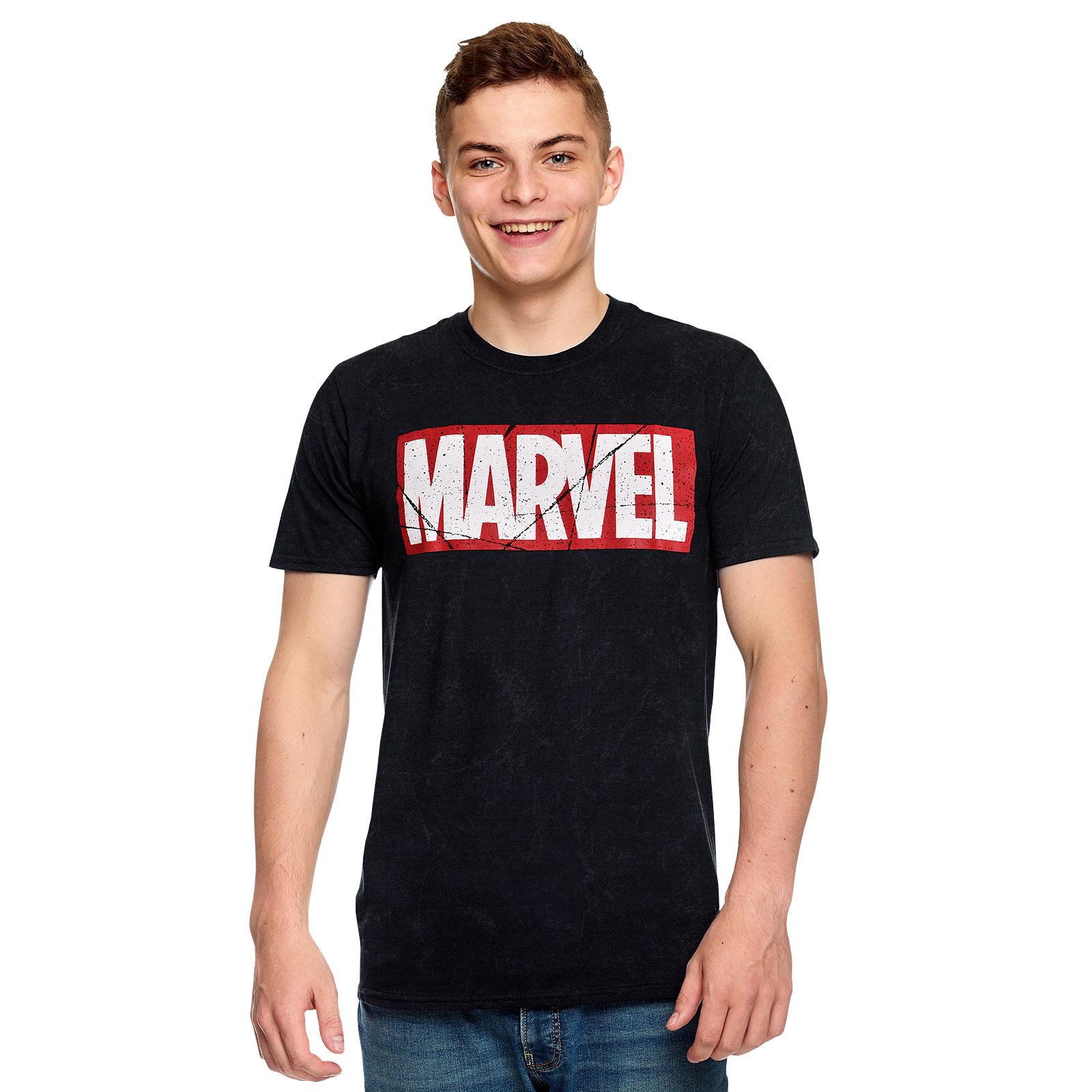 Marvel - Vintage Logo T-Shirt schwarz