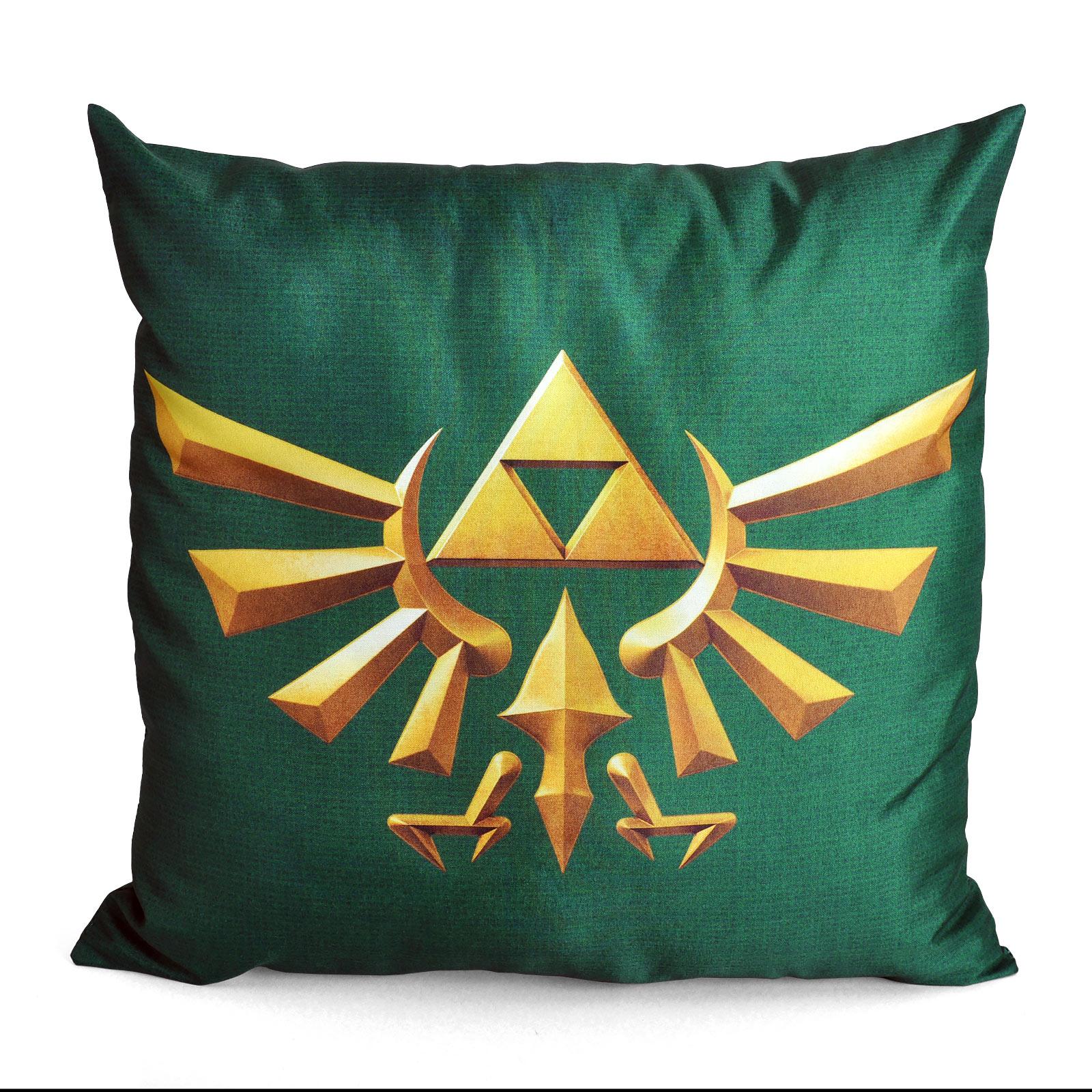 Zelda - Hyrule Triforce Logo Kissen