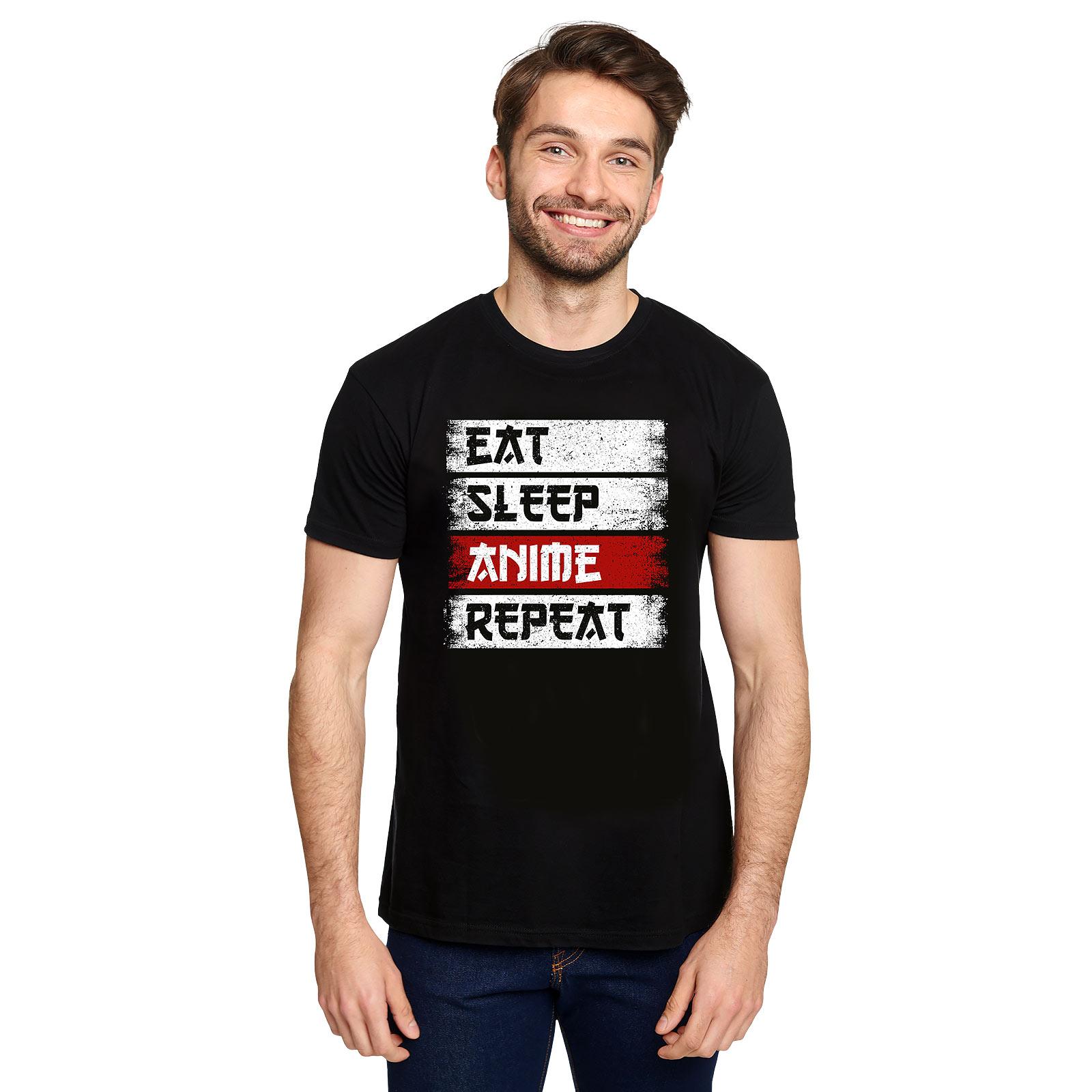 Daily Routine T-Shirt für Anime Fans schwarz