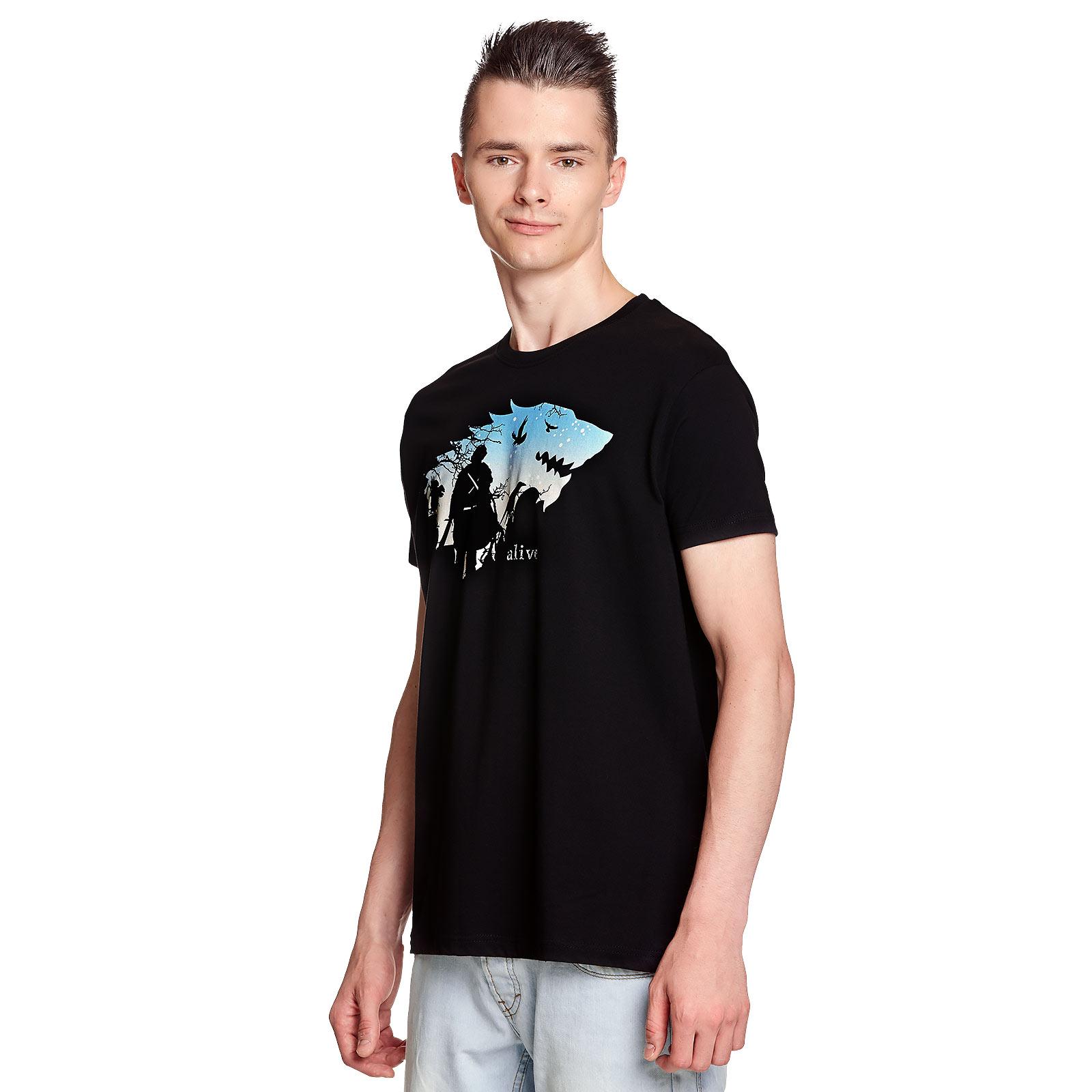 Jon Is Alive T-Shirt schwarz