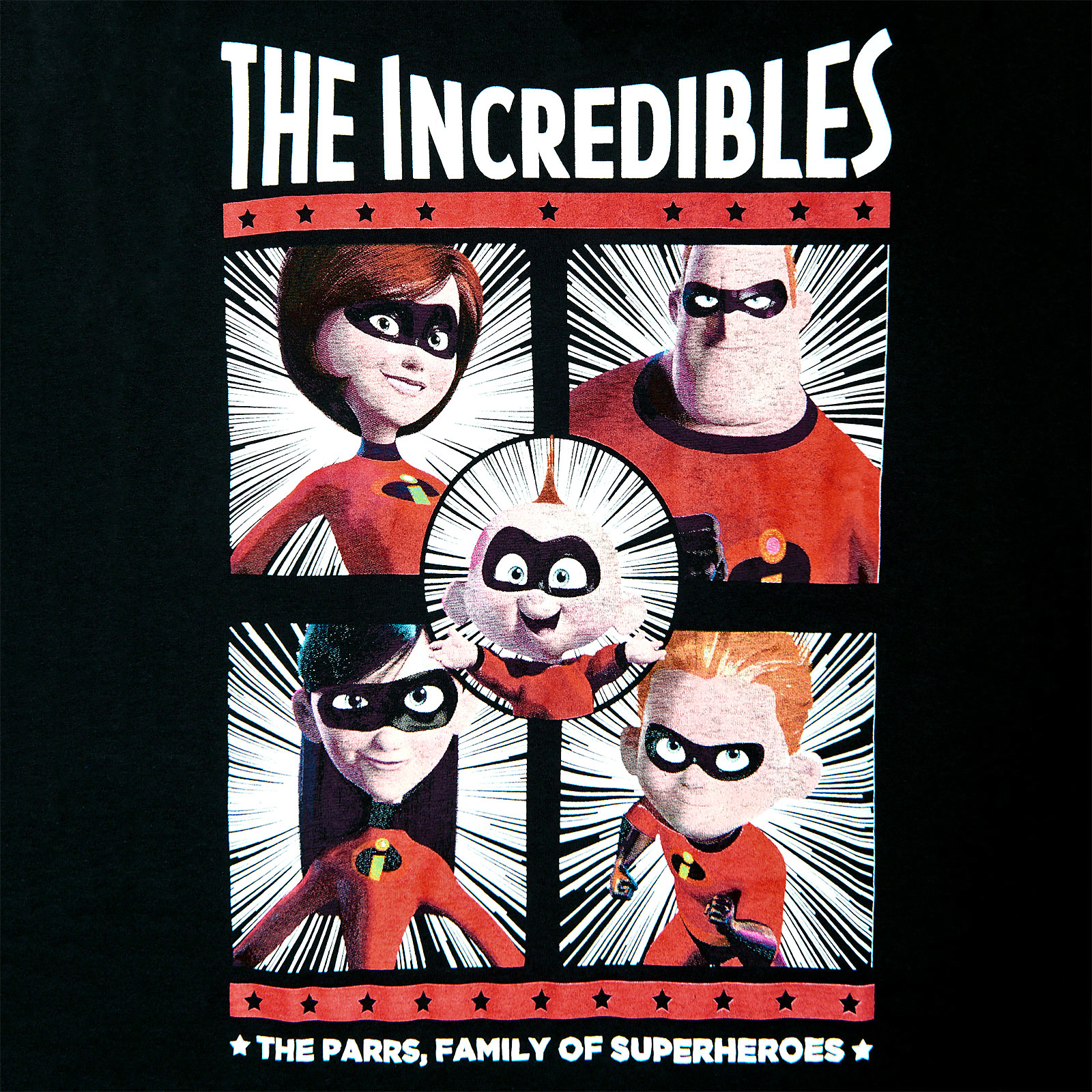 The Incredibles - Parr Family T-Shirt Damen schwarz