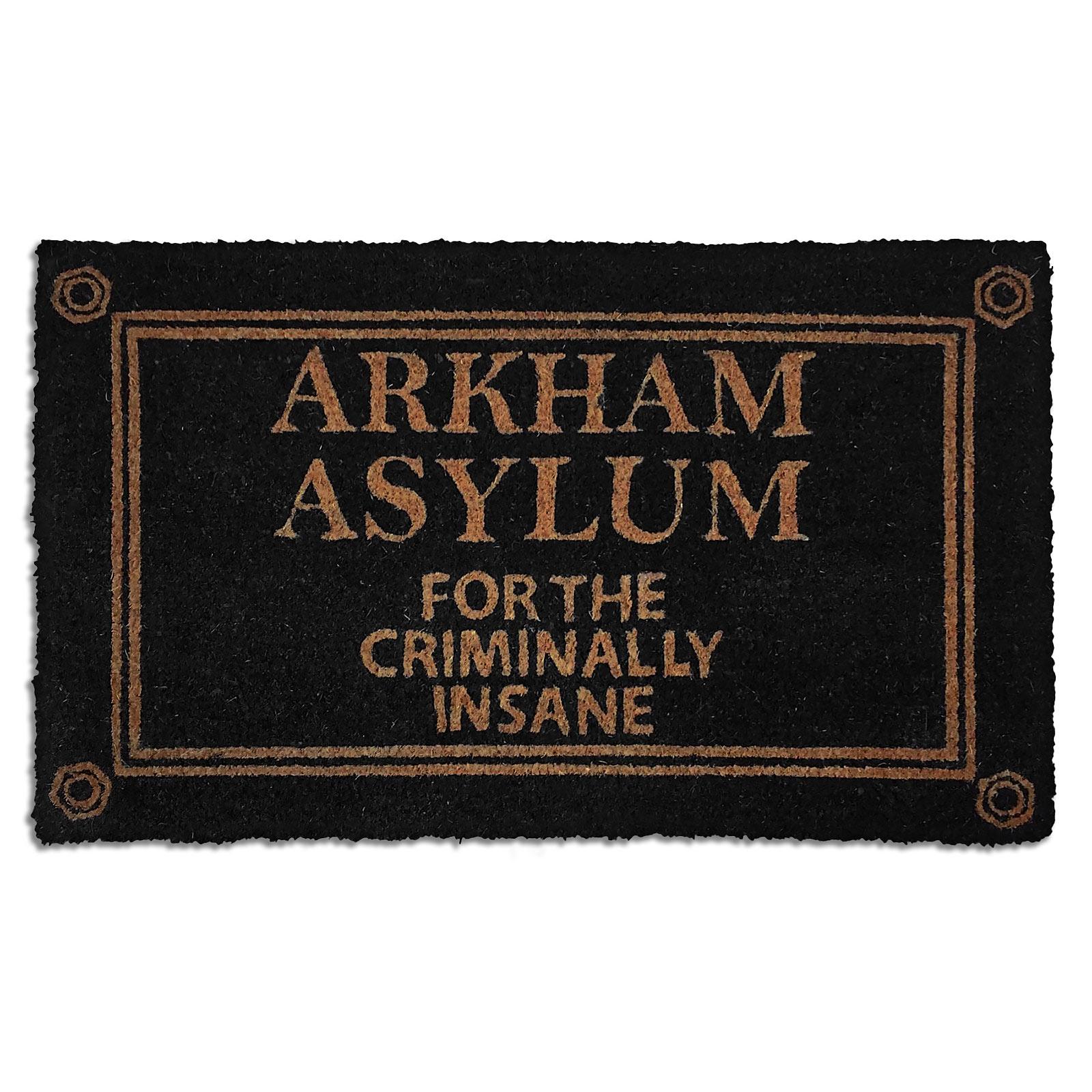 Batman - Arkham Asylum Fußmatte schwarz