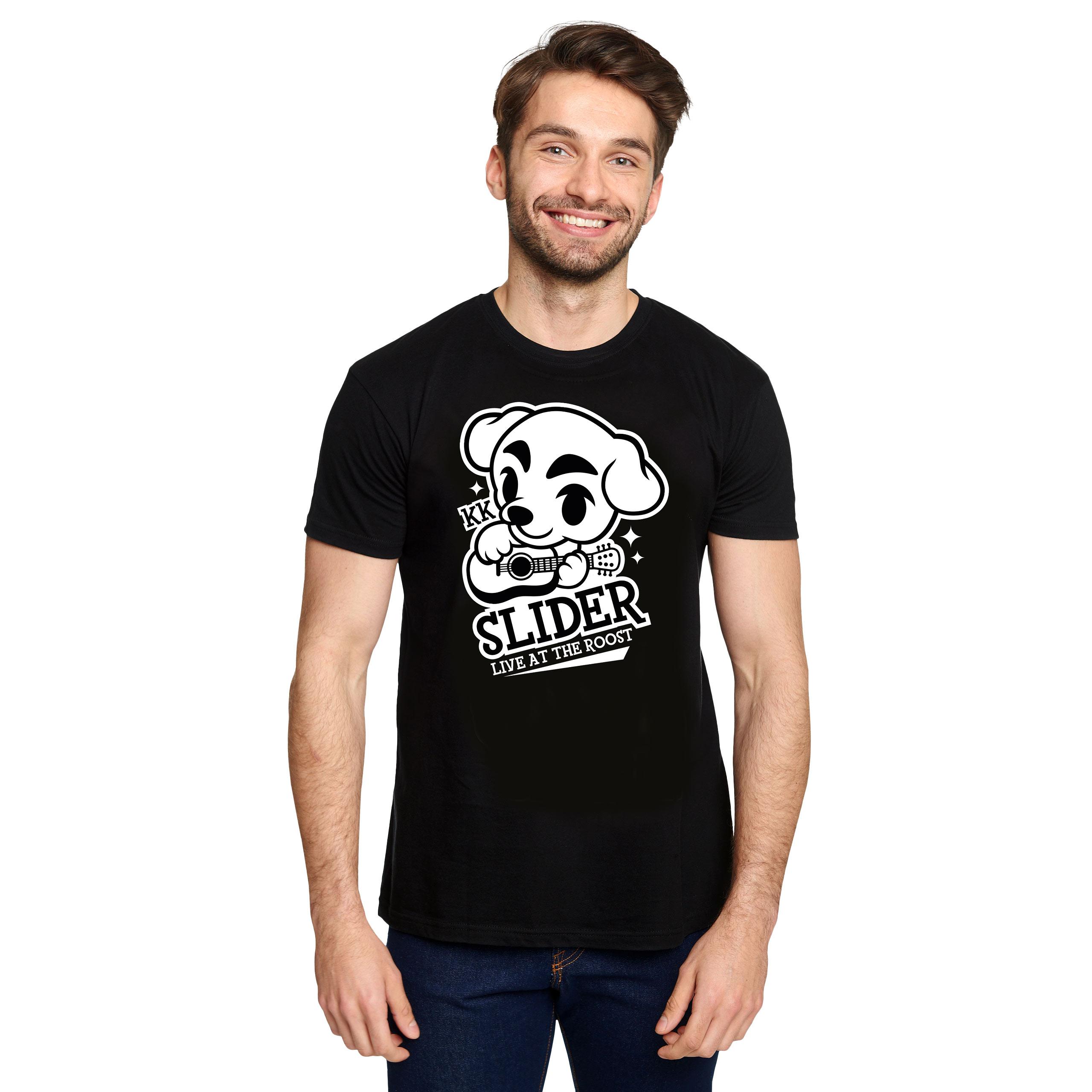 K.K. Slider T-Shirt für Animal Crossing Fans schwarz