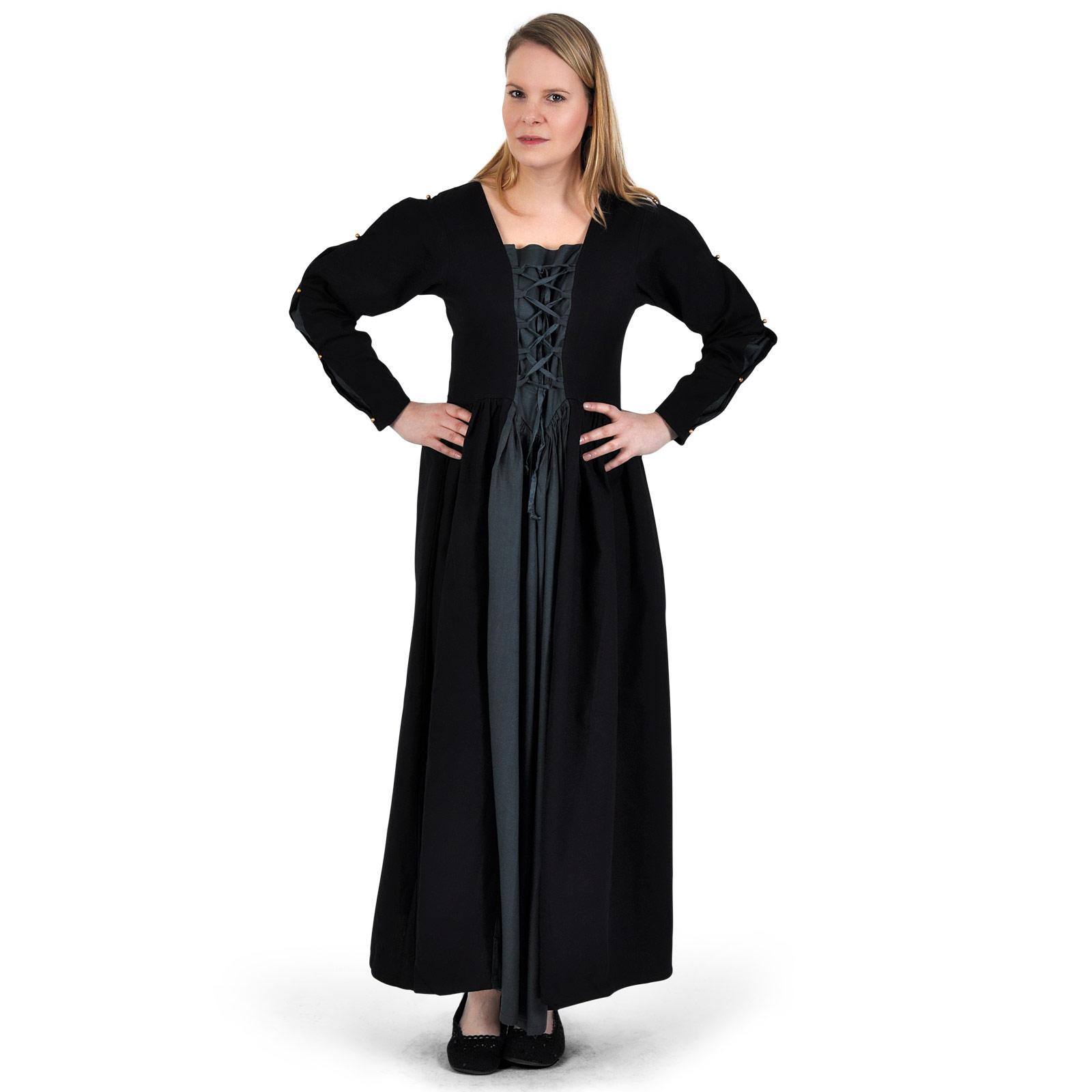 Mittelalter Kleid Orianne schwarz-blaugrau