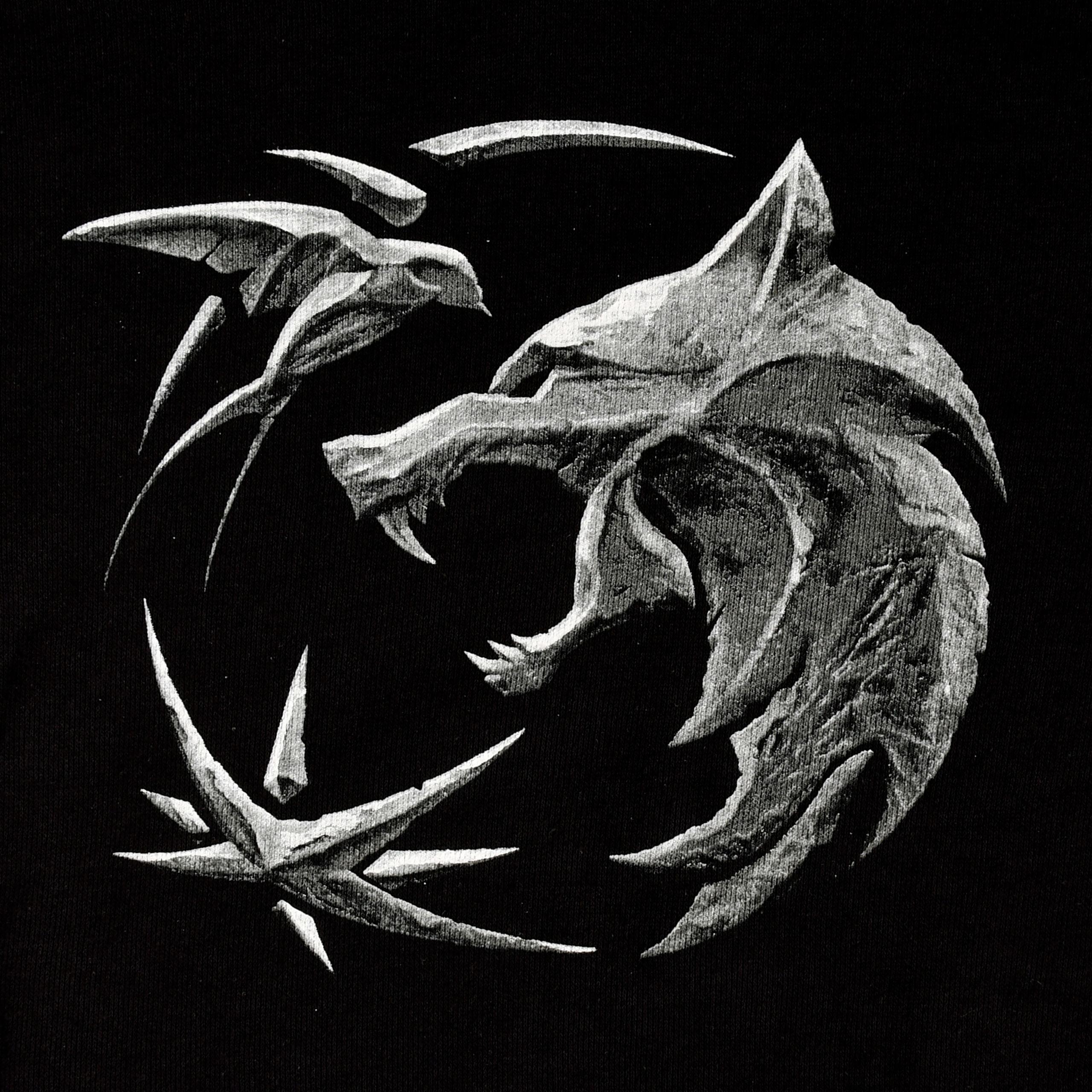 Witcher - Wolf Emblem Hoodie schwarz