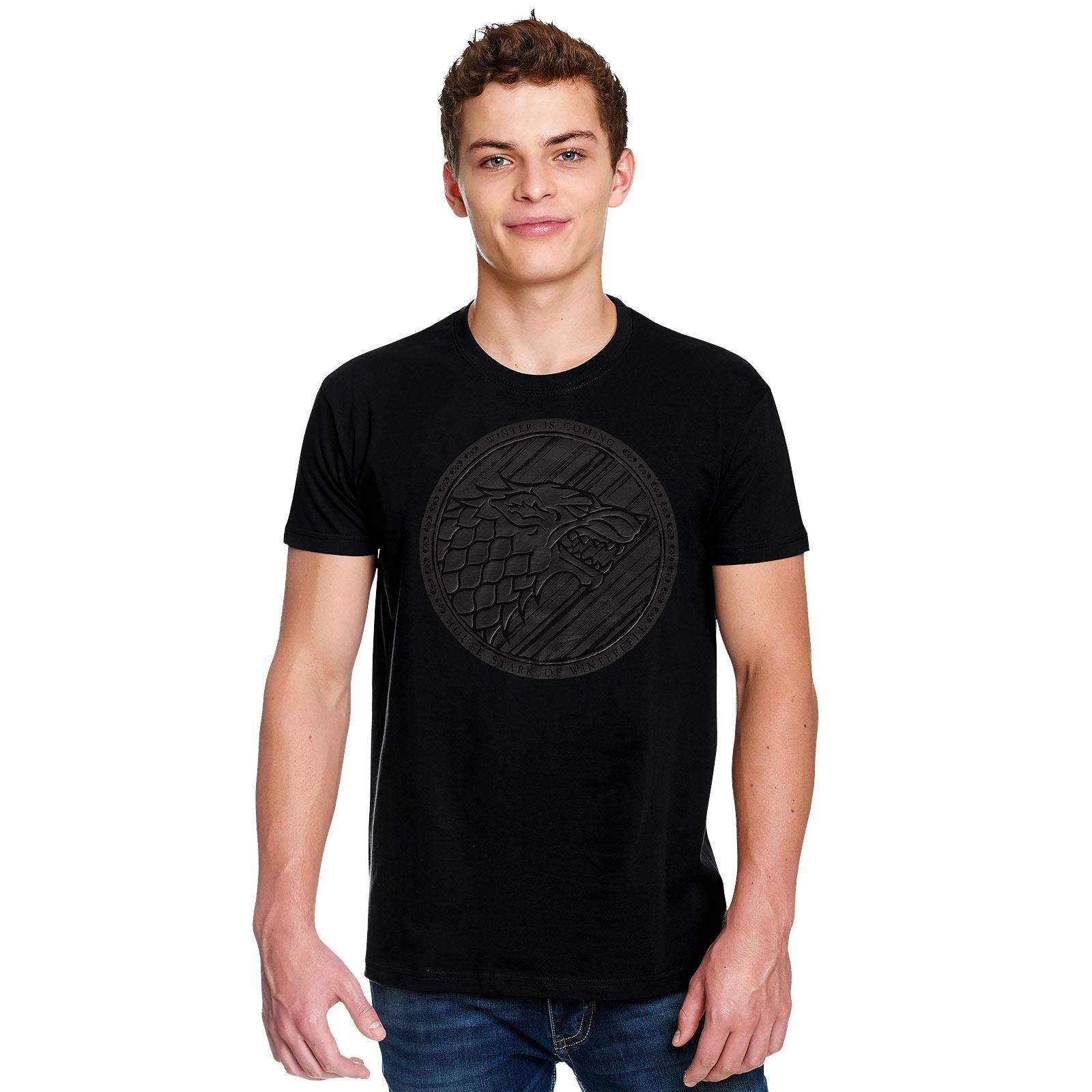Game of Thrones - Dark Stark 3D Logo T-Shirt schwarz