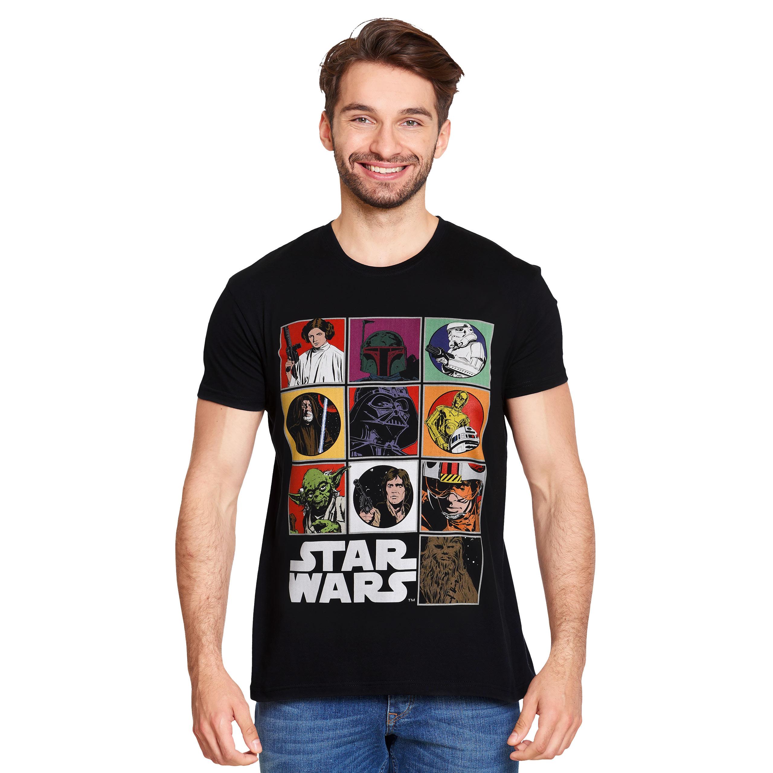 Star Wars - Characters T-Shirt schwarz