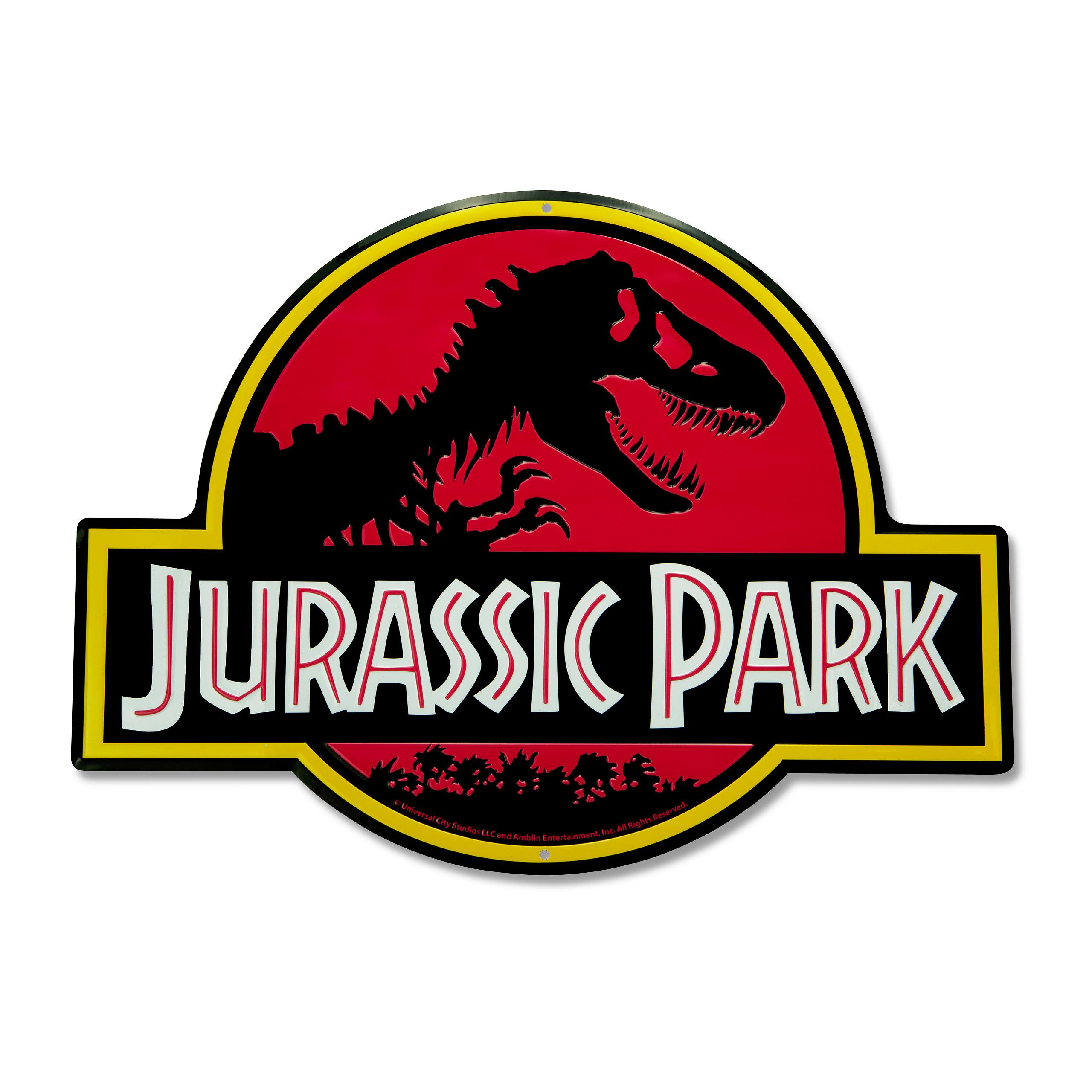 Jurassic Park - Logo Schild