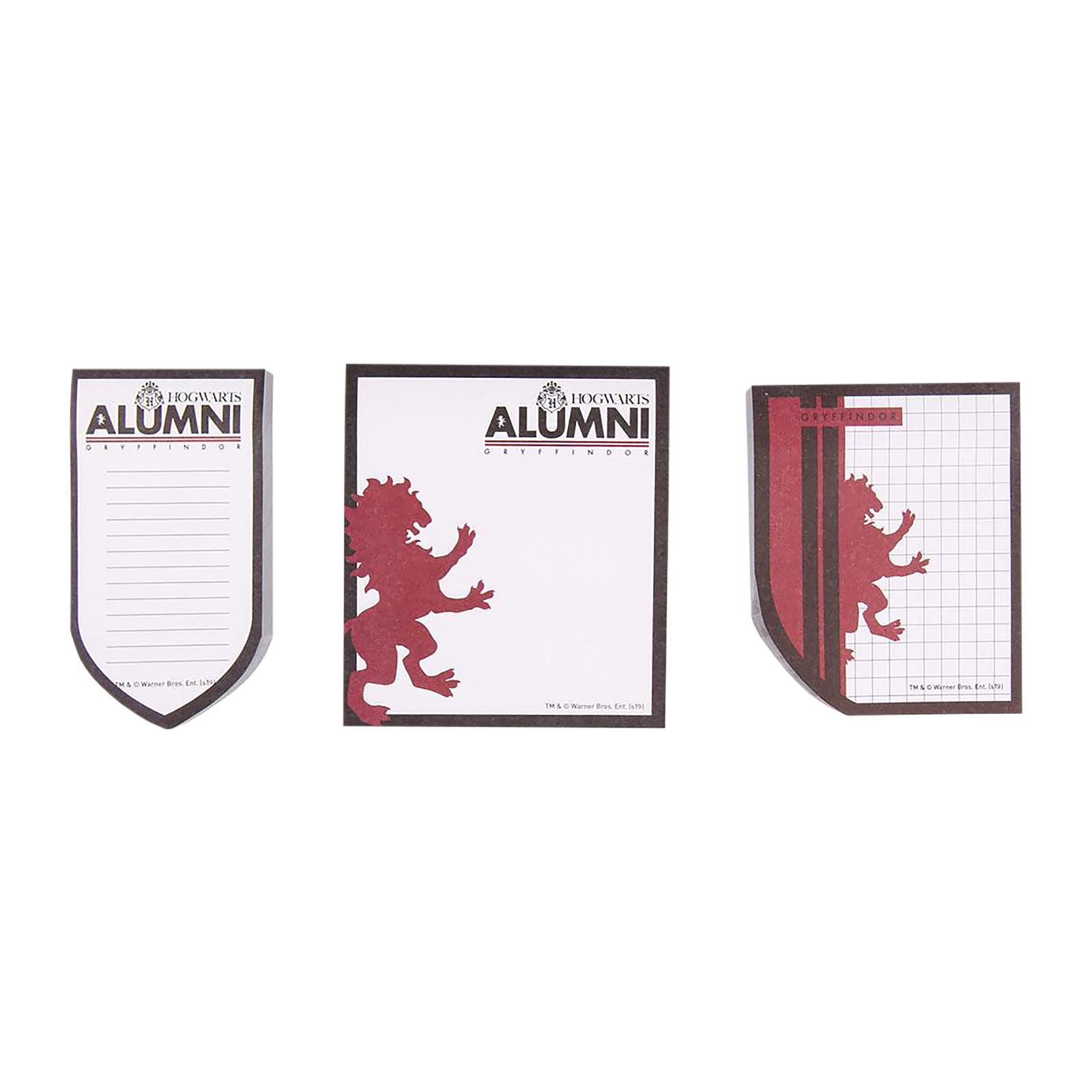 Harry Potter - Gryffindor Alumni Notizblöcke 3er Set