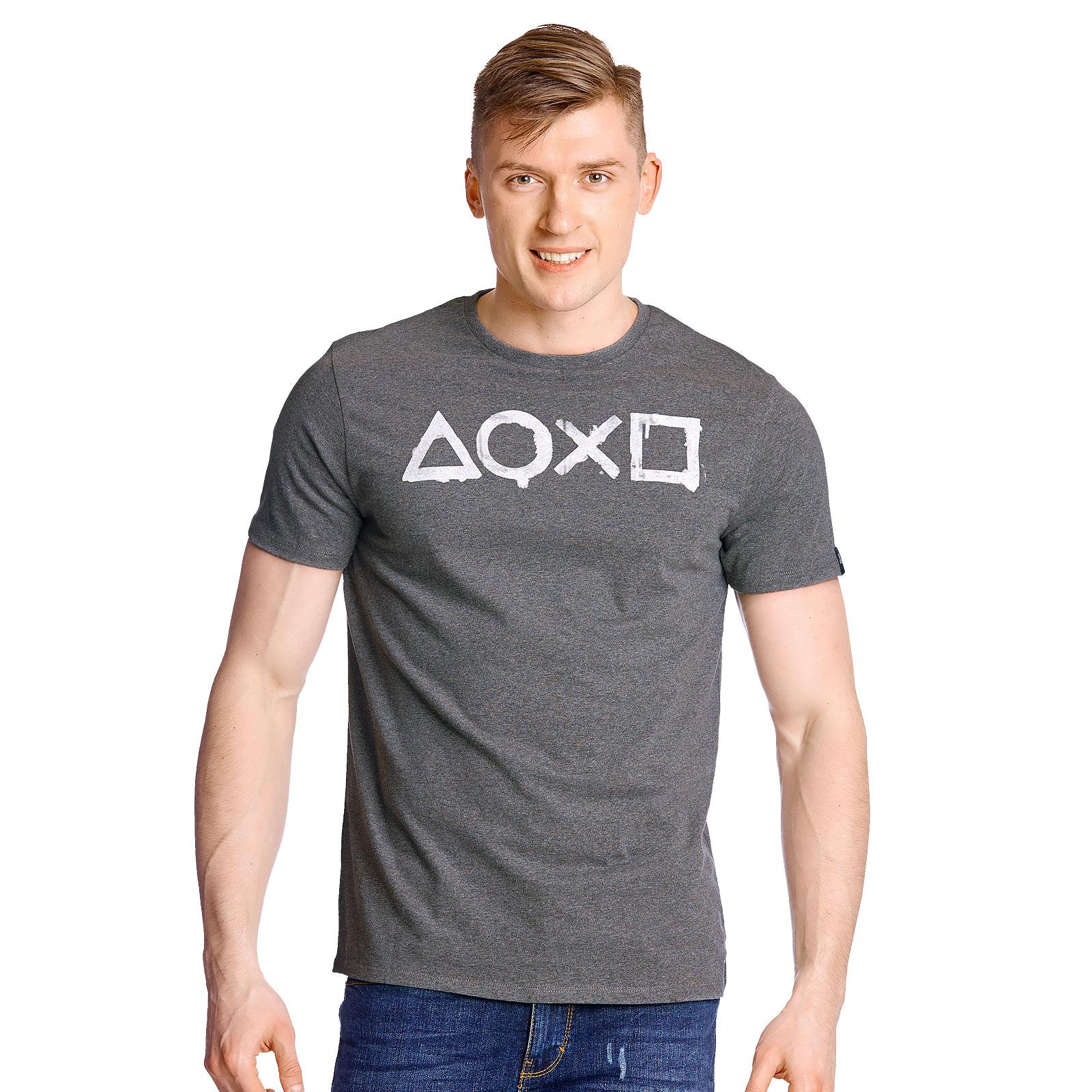 PlayStation - Buttons T-Shirt grau