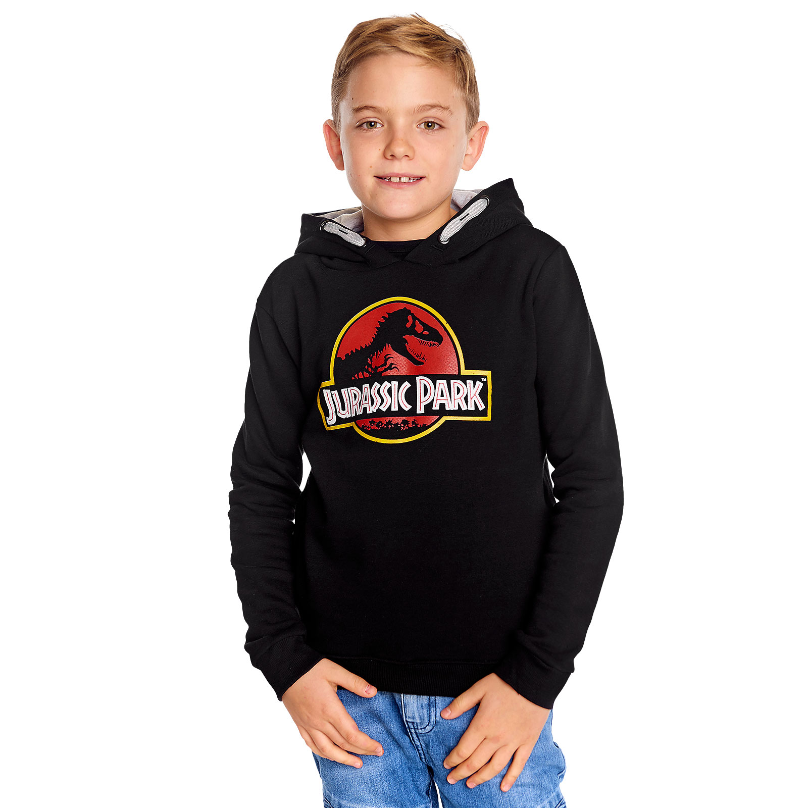 Jurassic Park - Movie Logo Kinder Hoodie schwarz