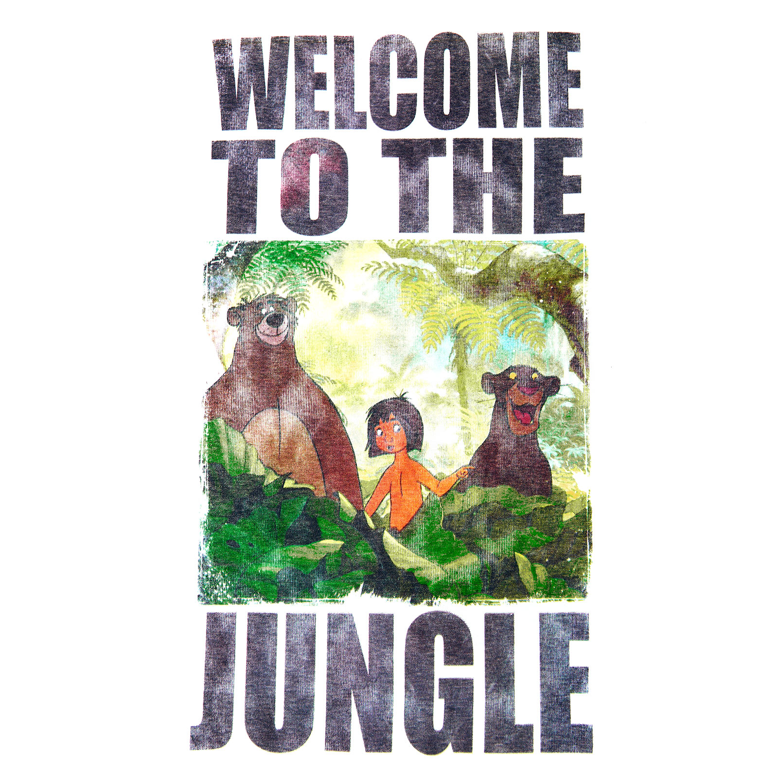 Dschungelbuch - Welcome to the Jungle T-Shirt weiß