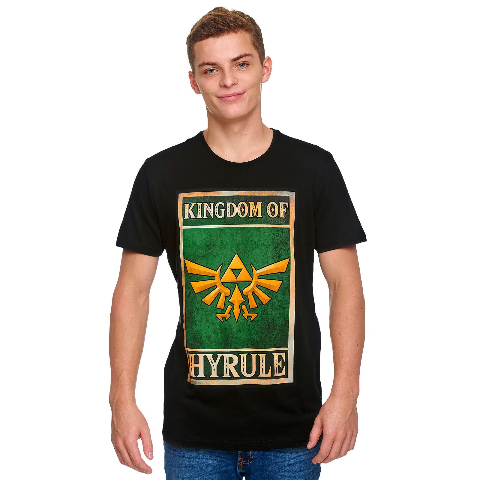 Zelda - Kingdom of Hyrule Propaganda Poster T-Shirt schwarz