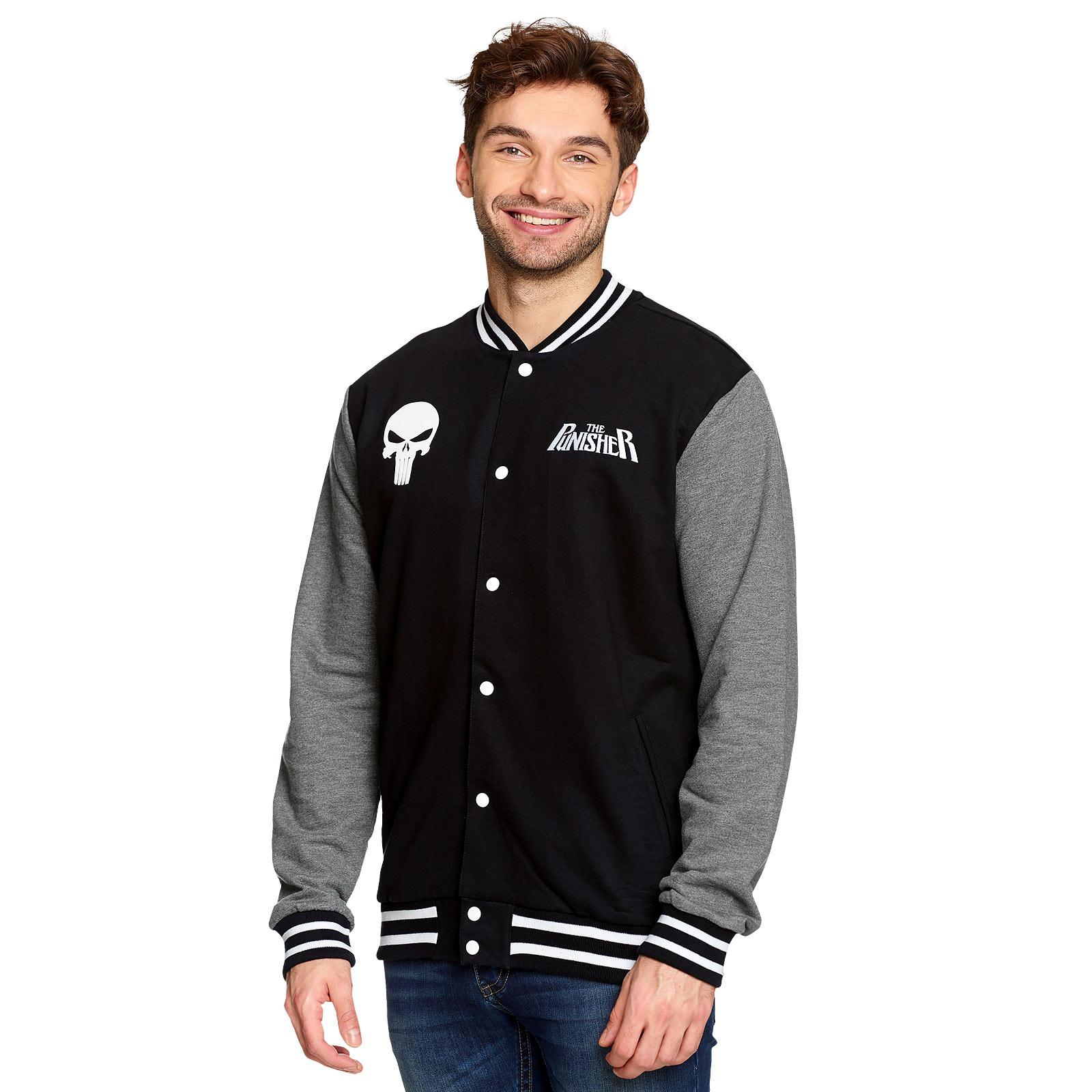 Punisher - Skull College Jacke schwarz-grau