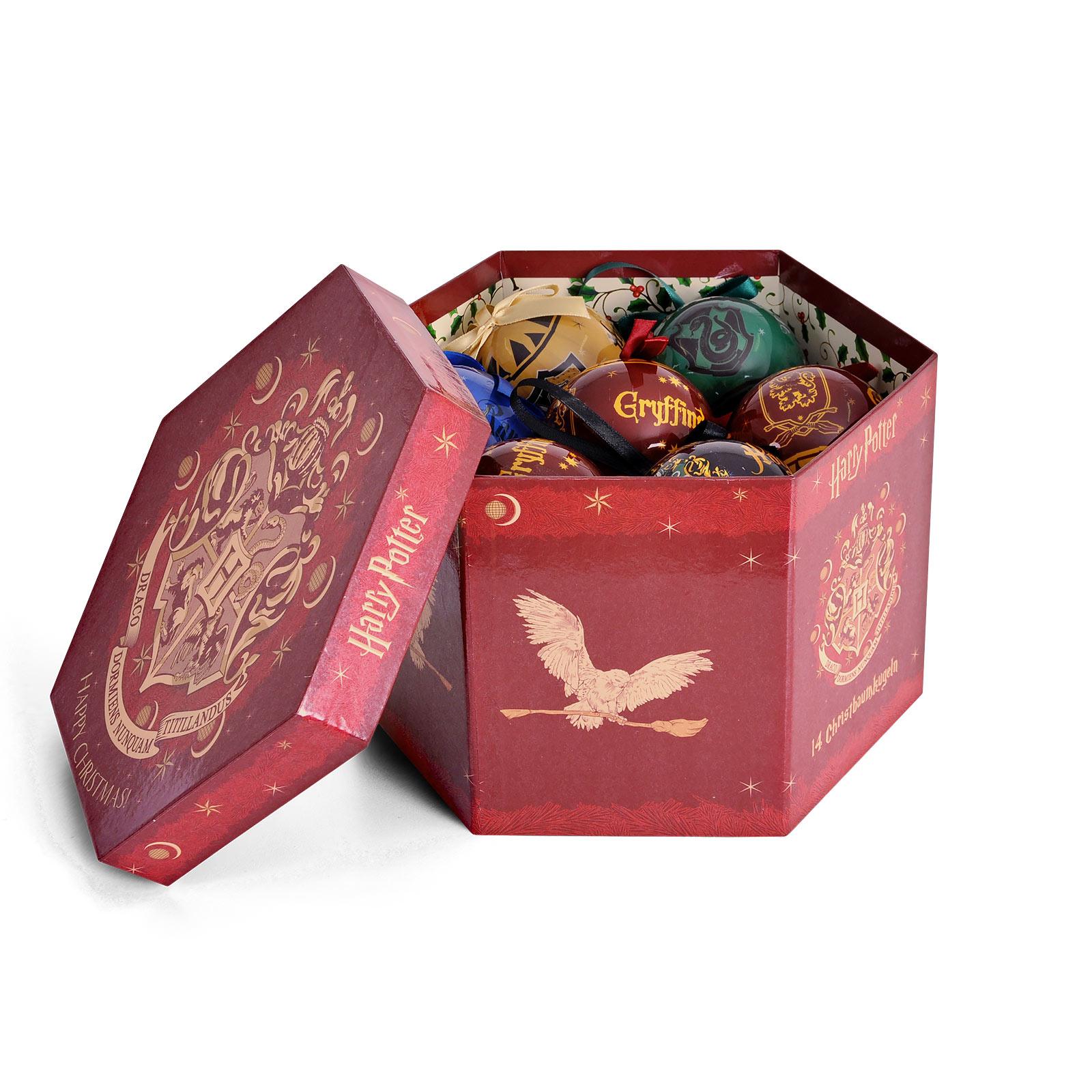 Harry Potter - Hogwarts Weihnachtsbaumkugeln 14tlg