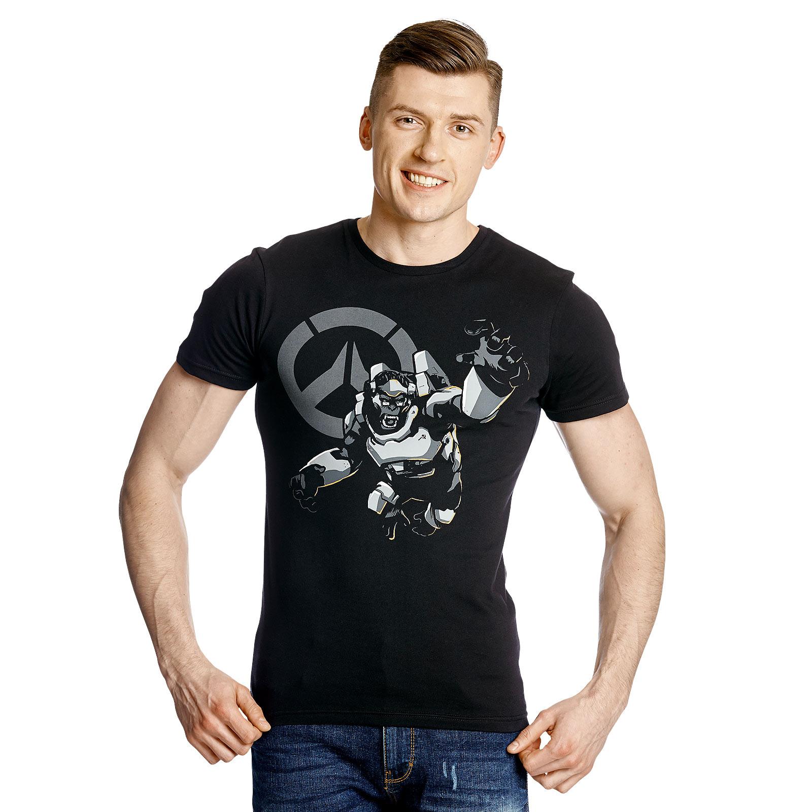 Overwatch - Winston Attack T-Shirt schwarz