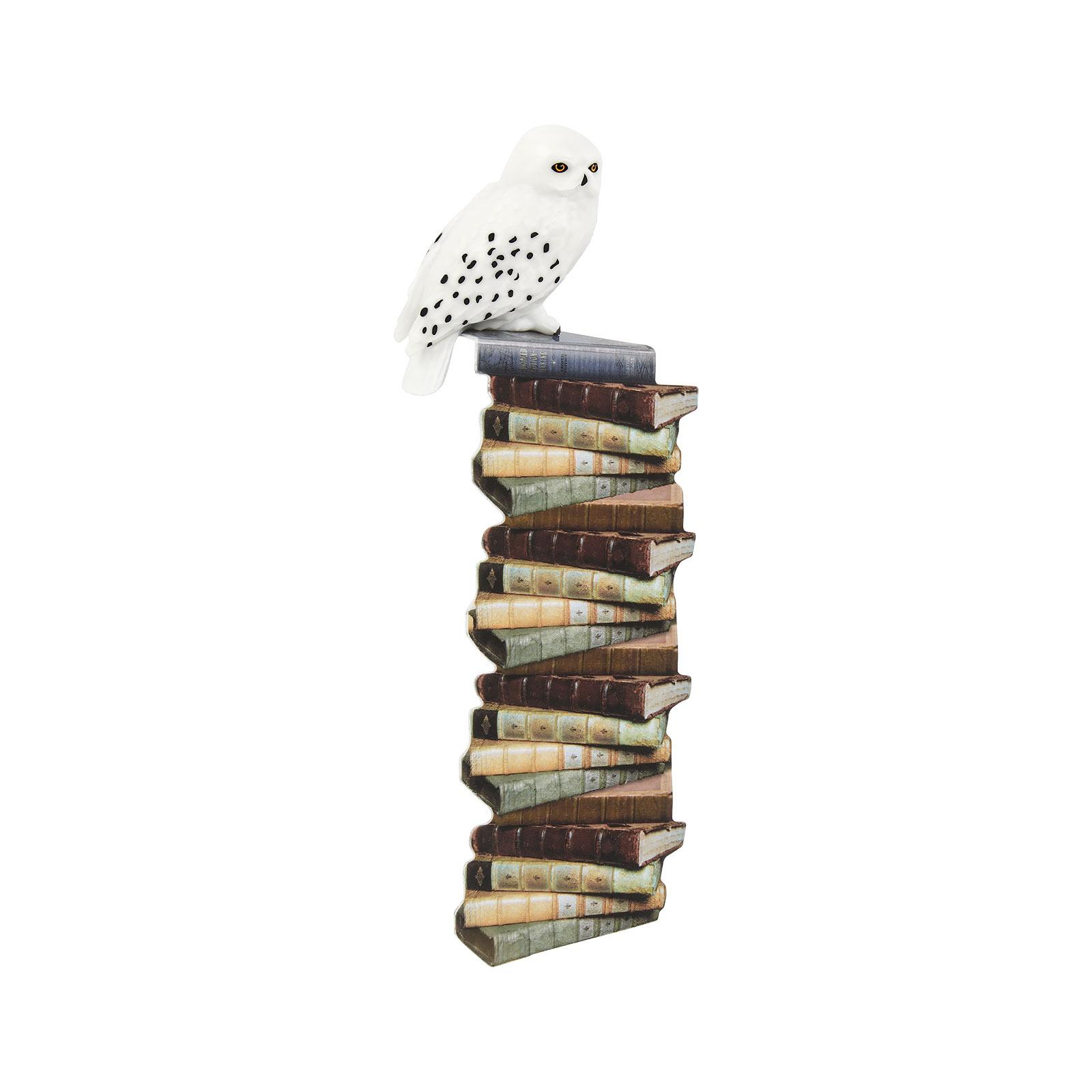 Harry Potter - Bücherstapel Lesezeichen mit Hedwig Figur
