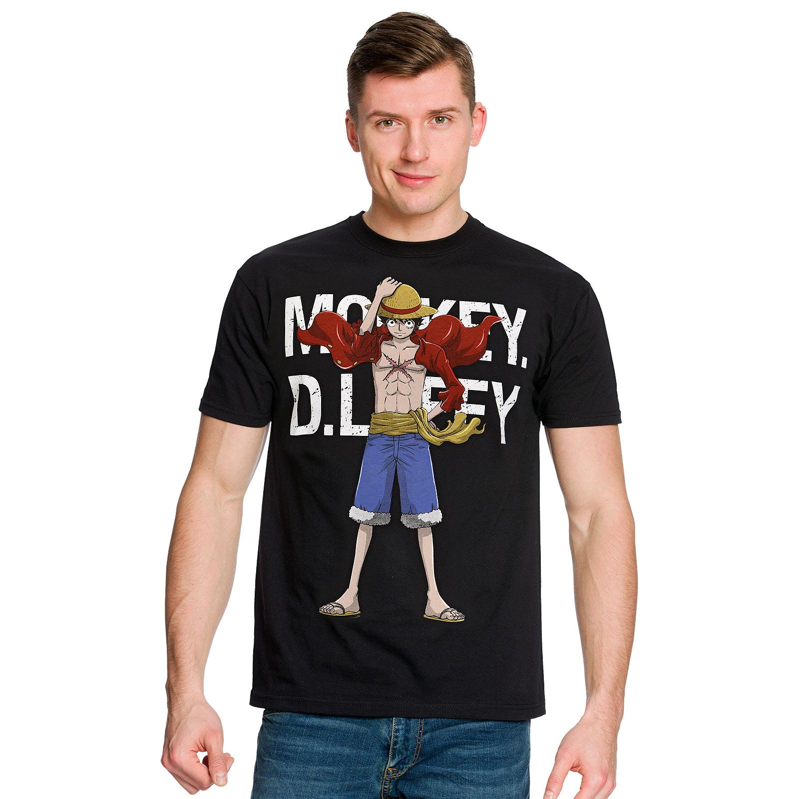 One Piece - Cool Ruffy T-Shirt schwarz